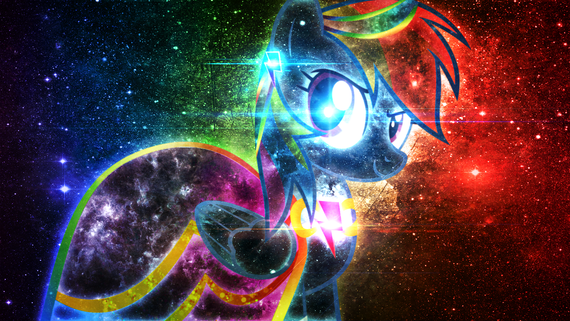rainbow dash summer dress galactic wallpaper by kibbiethegreat and