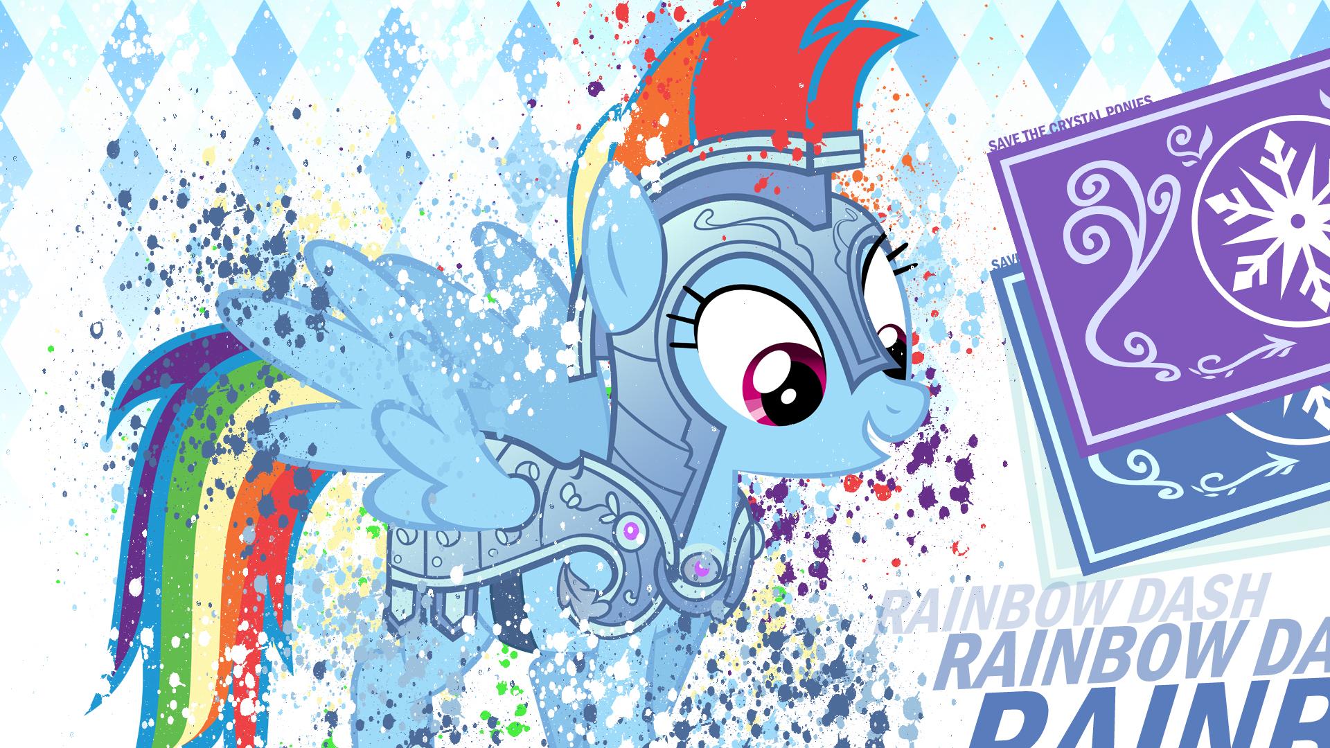 MLP Crystal Rainbow Dash by MysteriousKaos and Xtrl