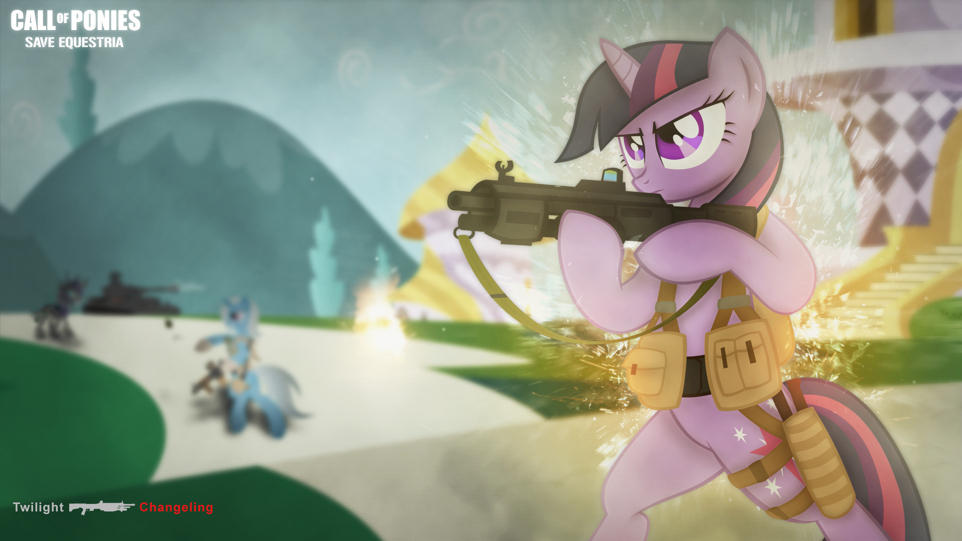 Wallpaper ~ Save Equestria. by DolphinFox, kenrick55, Mackaged, Pony-Vectors and shadawg