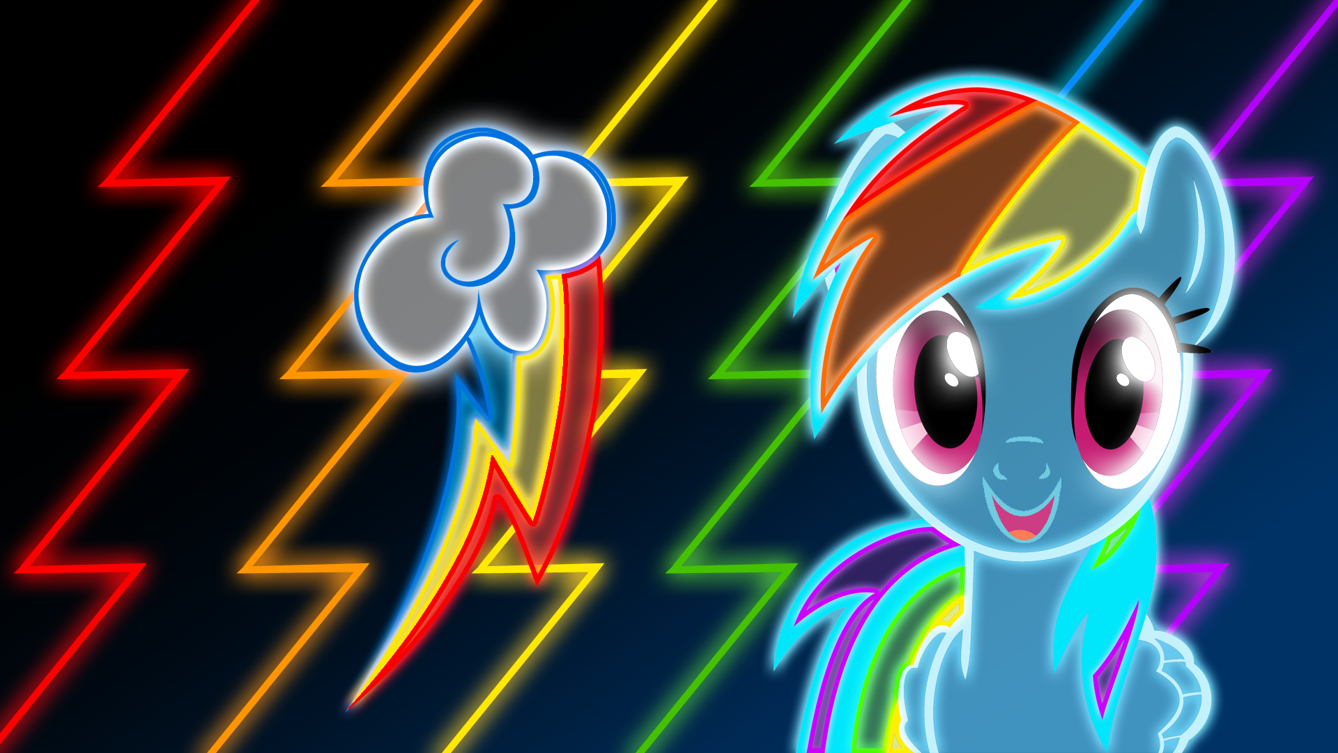 Neon Rainbow Dash Wallpaper By Ultimateultimate My Little Pony