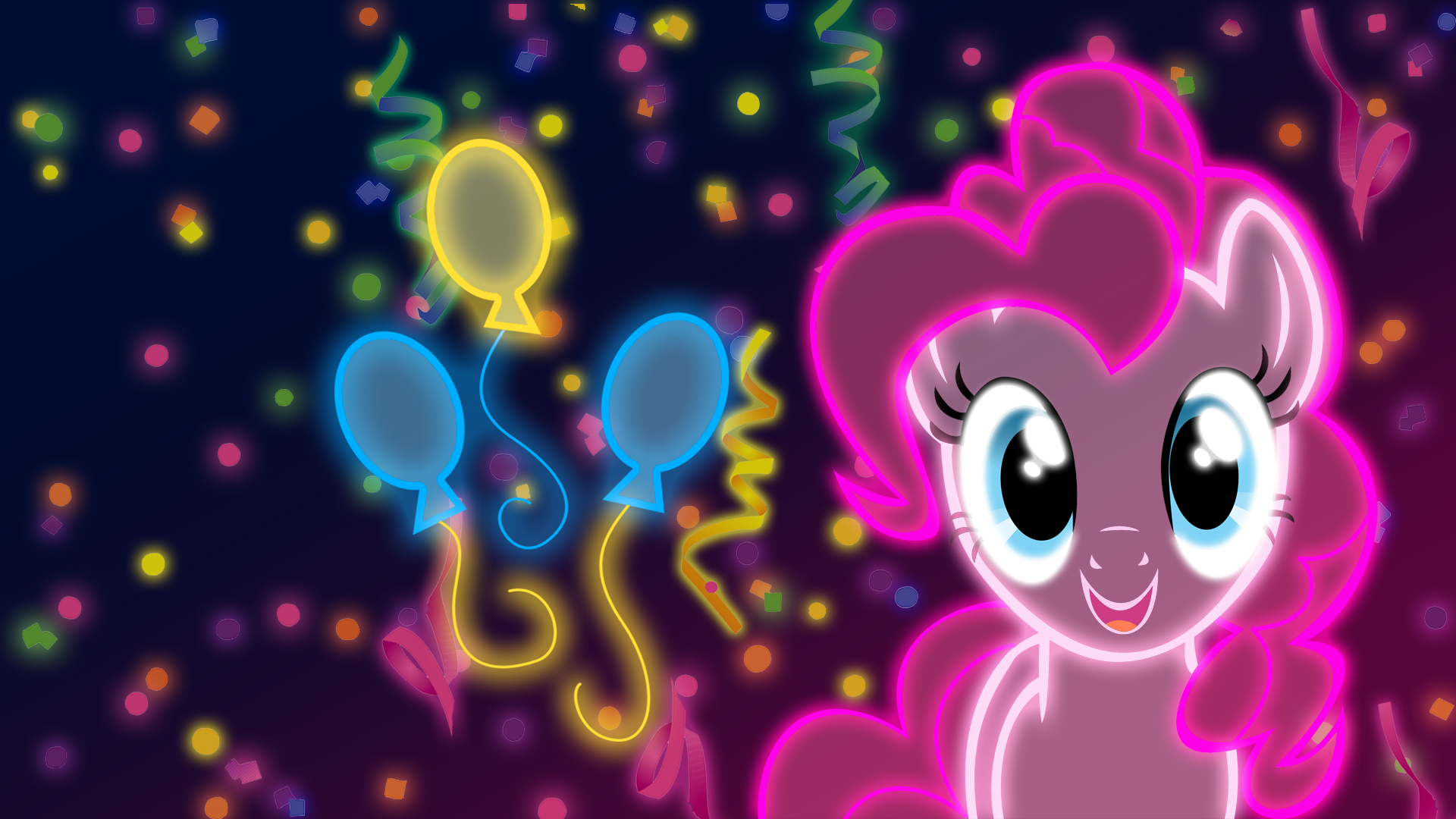 Neon Pinkie Pie Wallpaper By Ultimateultimate My Little Pony