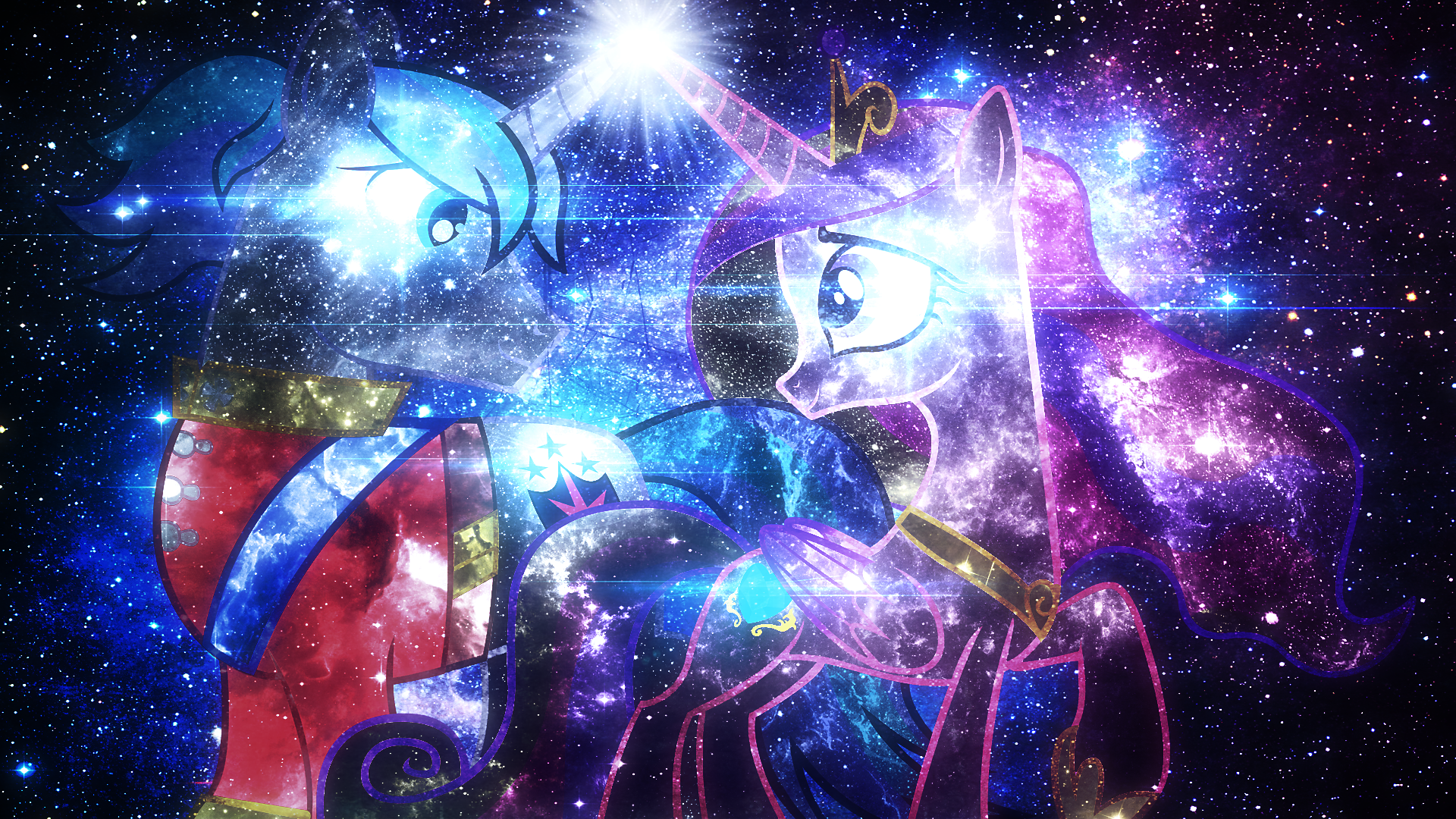 Galactic Love - Wallpaper by anitech and Tzolkine