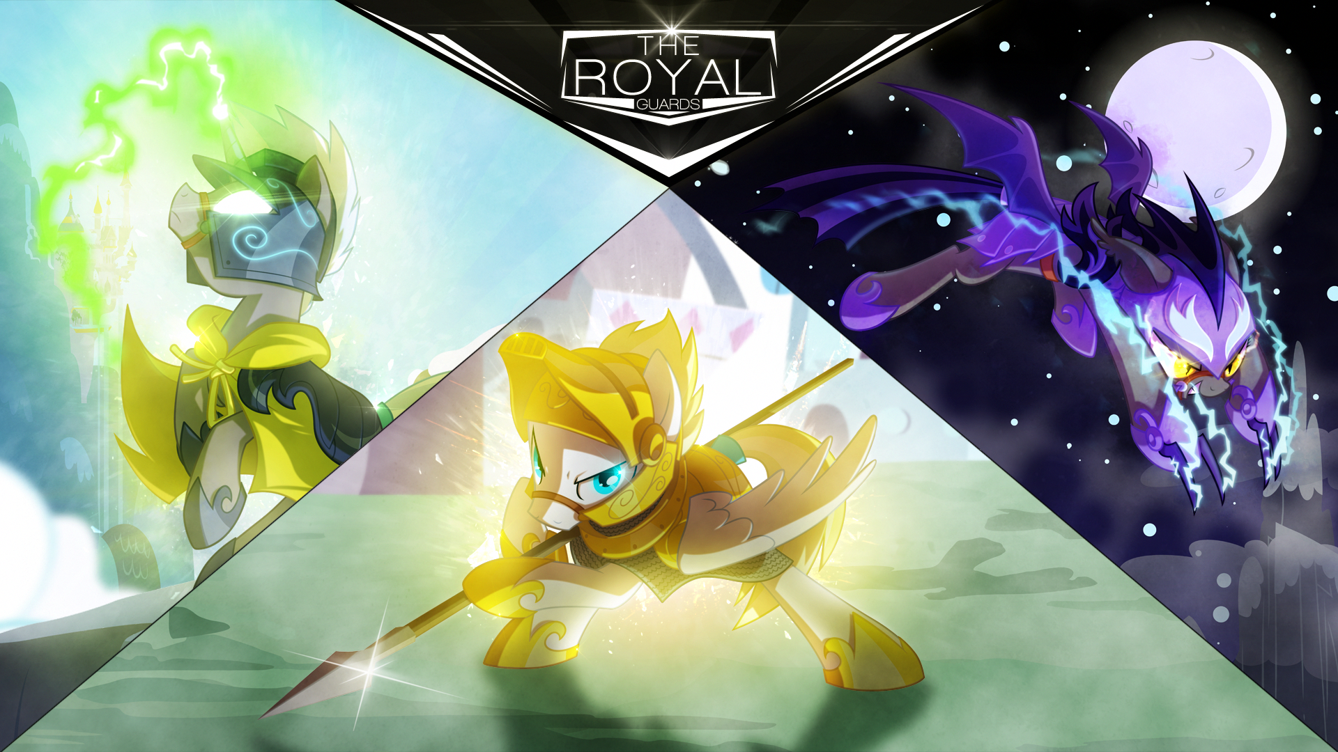 Wallpaper ~ The Royal Guards. by BonesWolbach, Equestria-Prevails, Hellswolfeh, Mackaged, Proenix and Qsteel