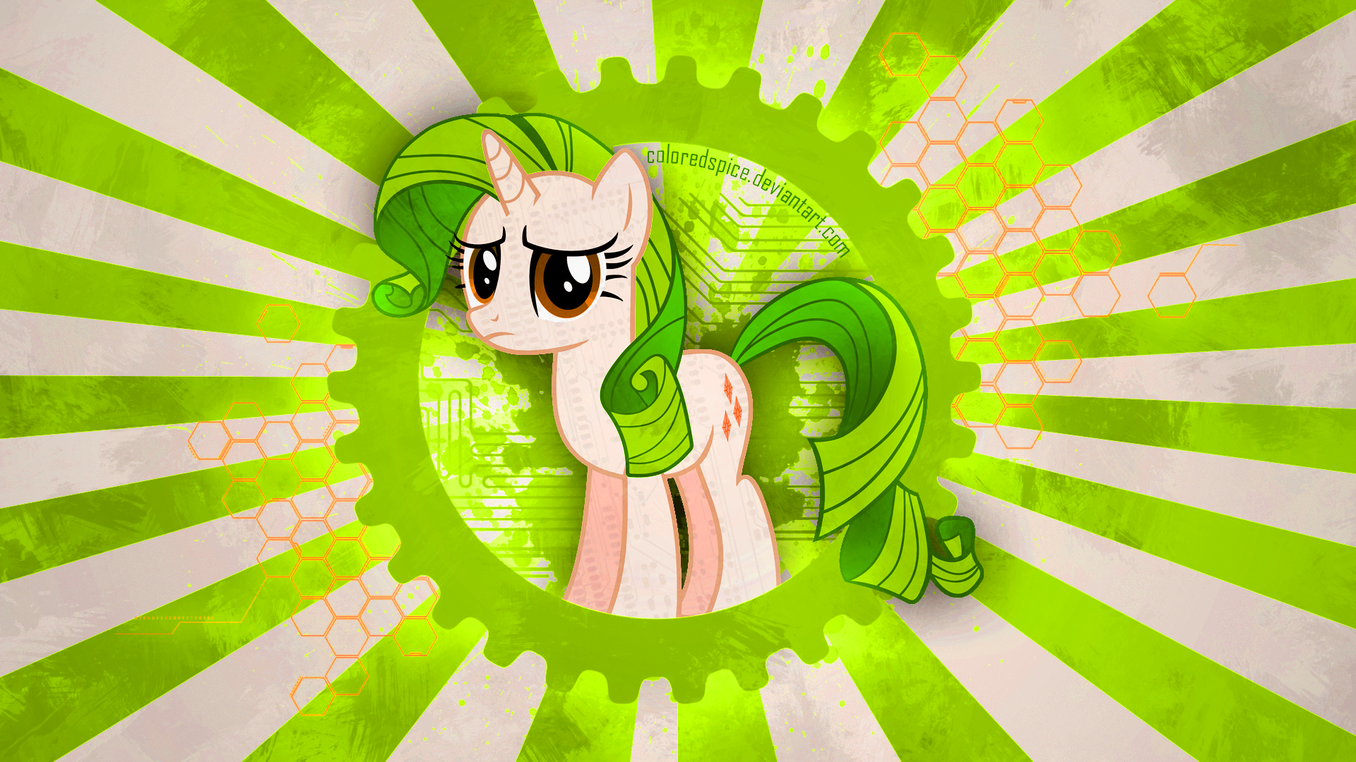 Green Hair Wallpaper by ColoredSpice and Hawk9mm