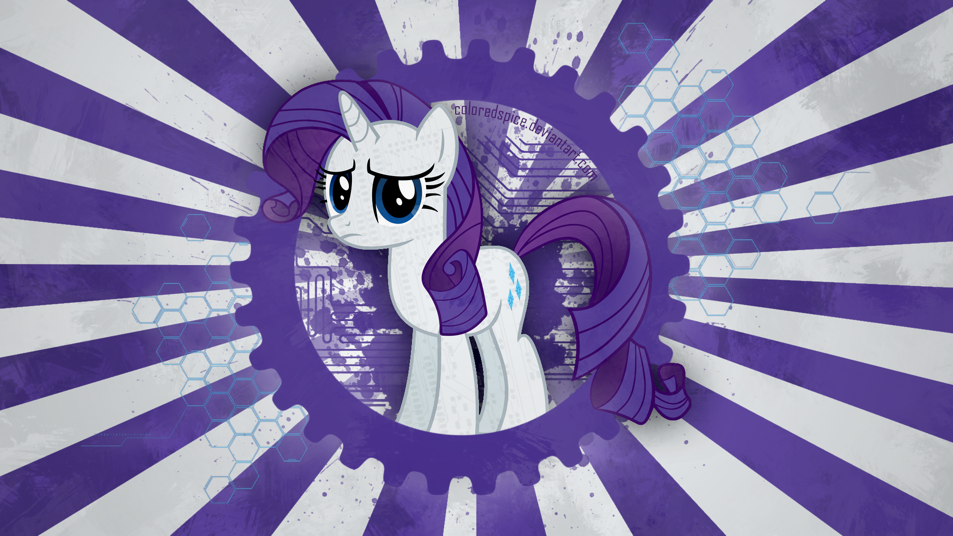 Rarity Wallpaper by ColoredSpice and Hawk9mm
