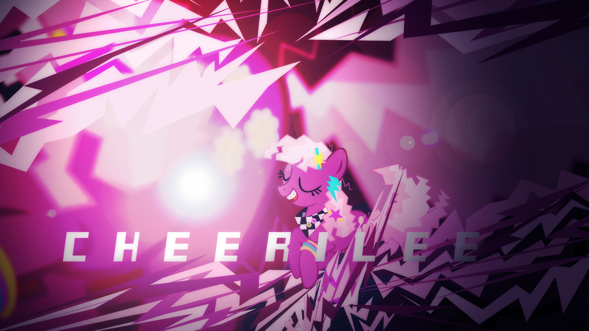 Cheerilee Wallpaper by uxyd and Xtrl