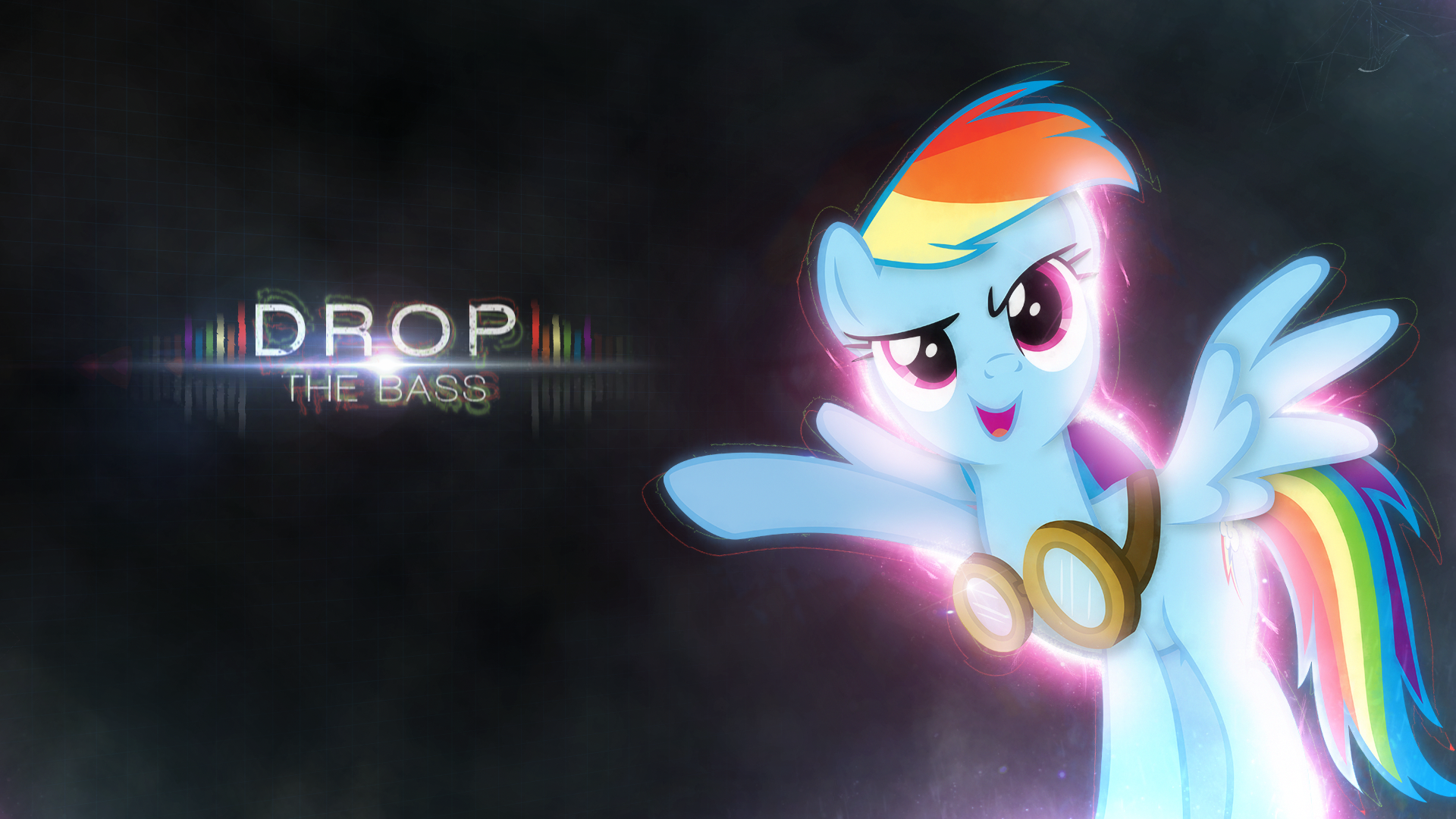 Wallpaper ~ Drop The Bass. by Mackaged and Somepony