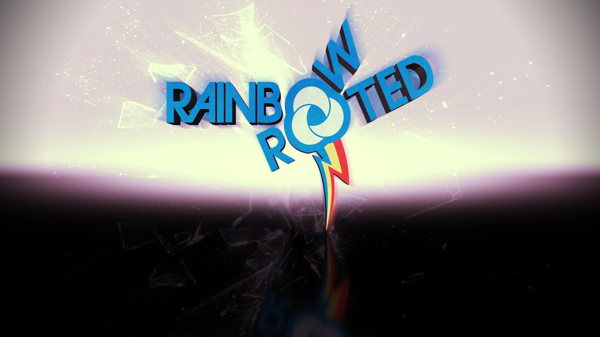 Rainbow and Rooted 3D by BronyYAY123 and WMill