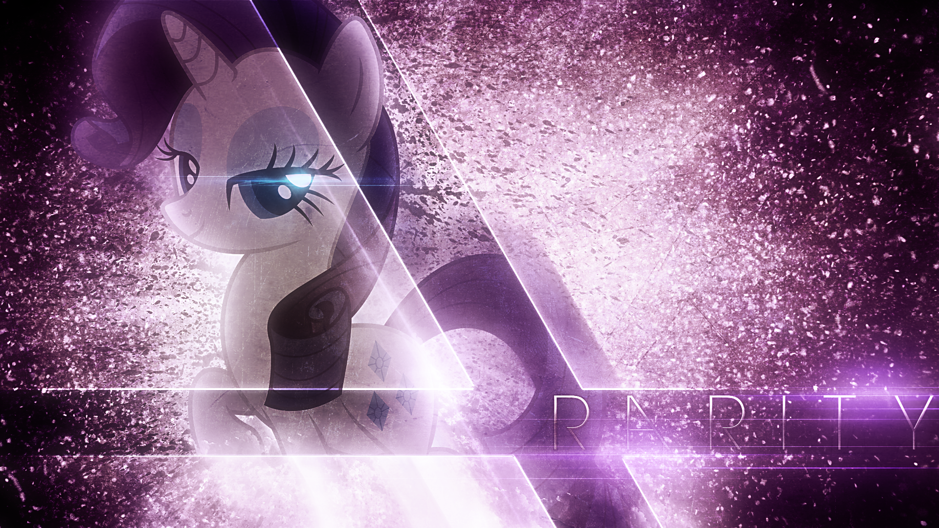Glamorous Rarity - Wallpaper by MysteriousKaos and Tzolkine