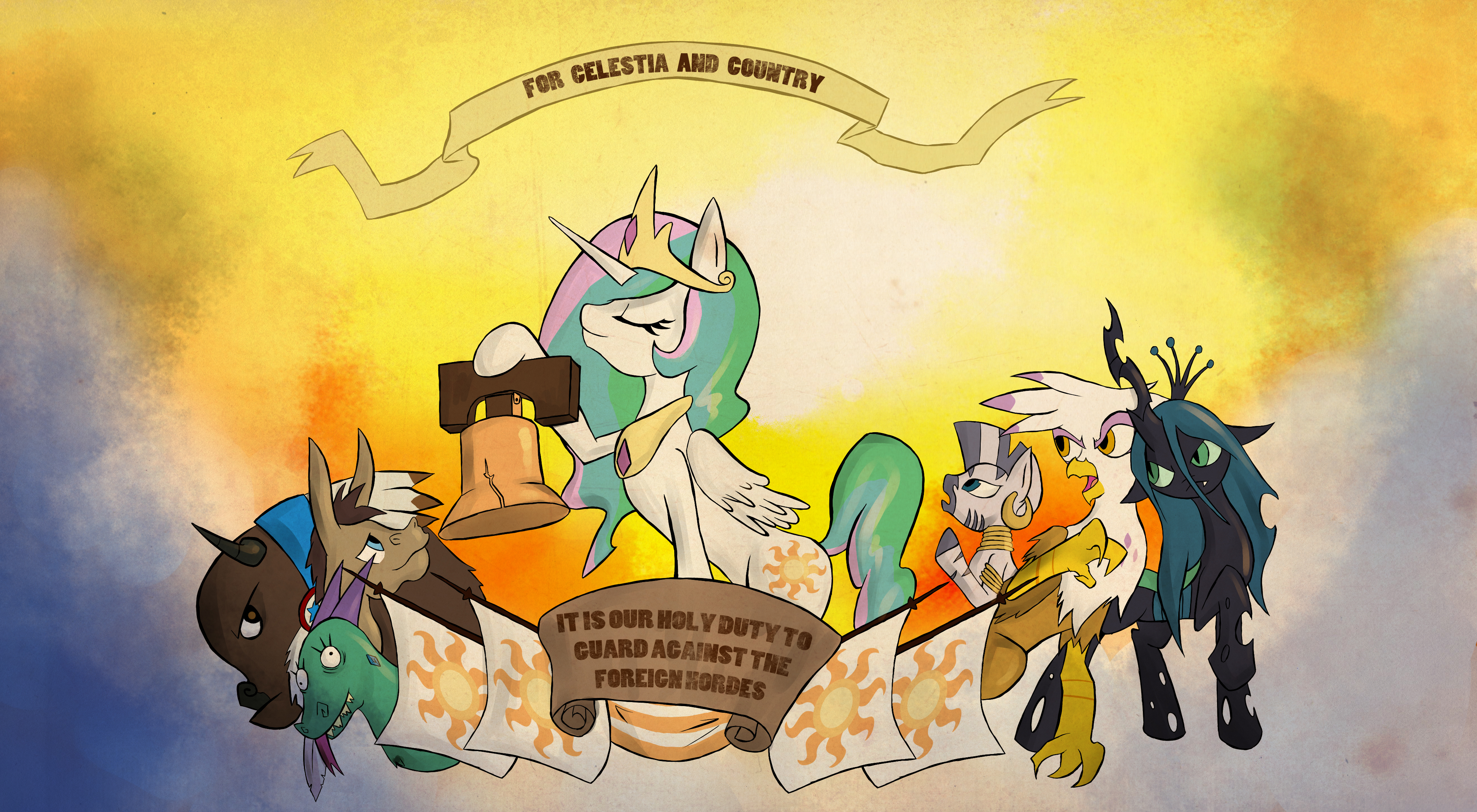 PonyShock Infinite Propaganda by juanrock