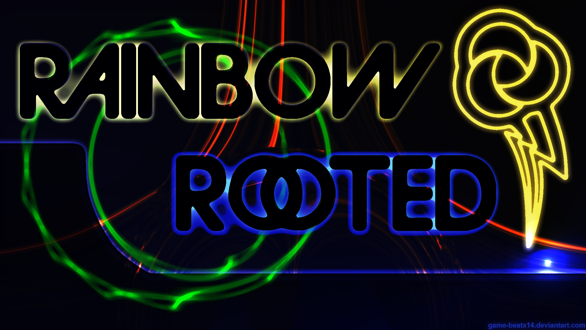 Rainbow and Rooted Wallpaper by Game-BeatX14 and WMill
