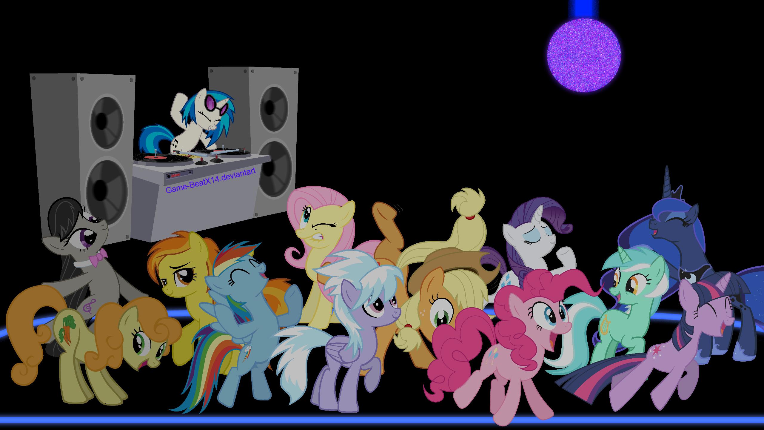 MLP FIM Wallpaper: Ponies on the Dance Floor by 3luk, AlexSvar, BiodegradableBox, BlackGryph0n, Blackm3sh, Game-BeatX14, HornFlakes, M99moron, MaximillianVeers, NightmareMoonS, NinjamissenDk, sircinnamon and StarshineCelestalis