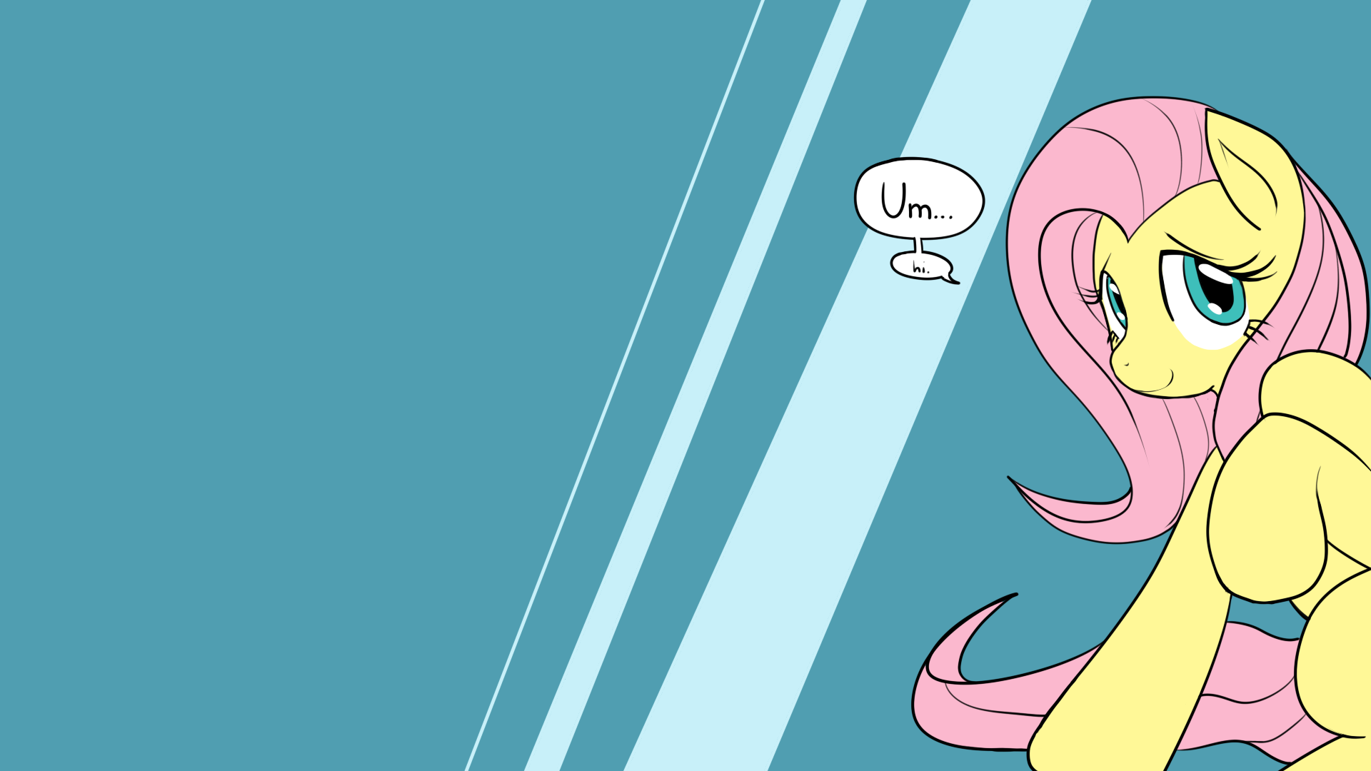 Fluttershy Wallpaper by ReiDuran