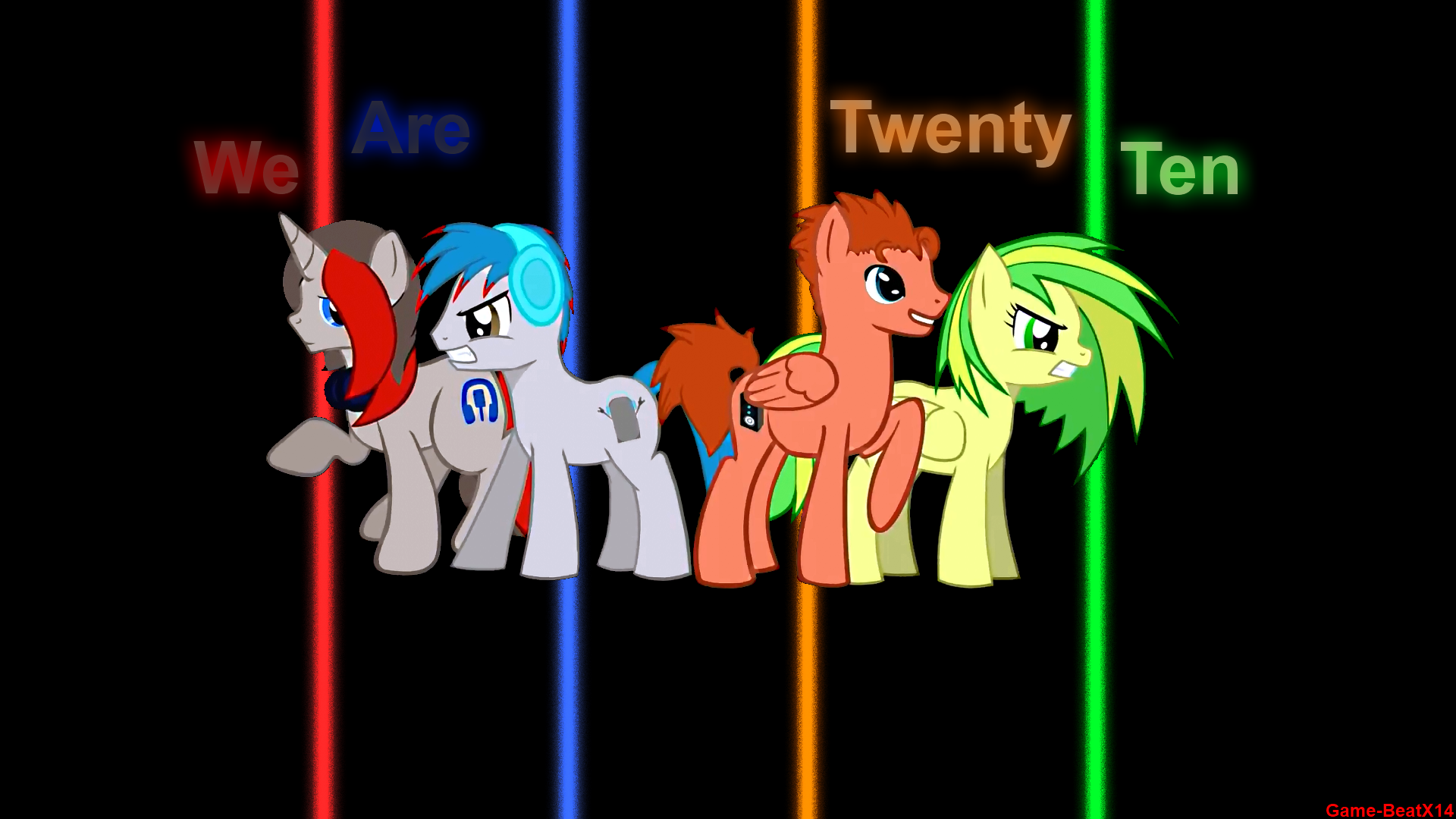 We Are Twenty Ten Wallpaper by Game-BeatX14 and MyLittleLuckyWish