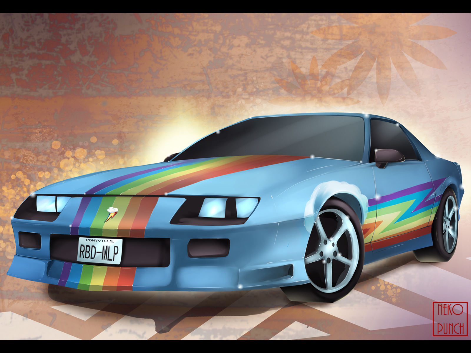 Rainbow Dash Car Wallpaper By X Nekopunch X Cartoon