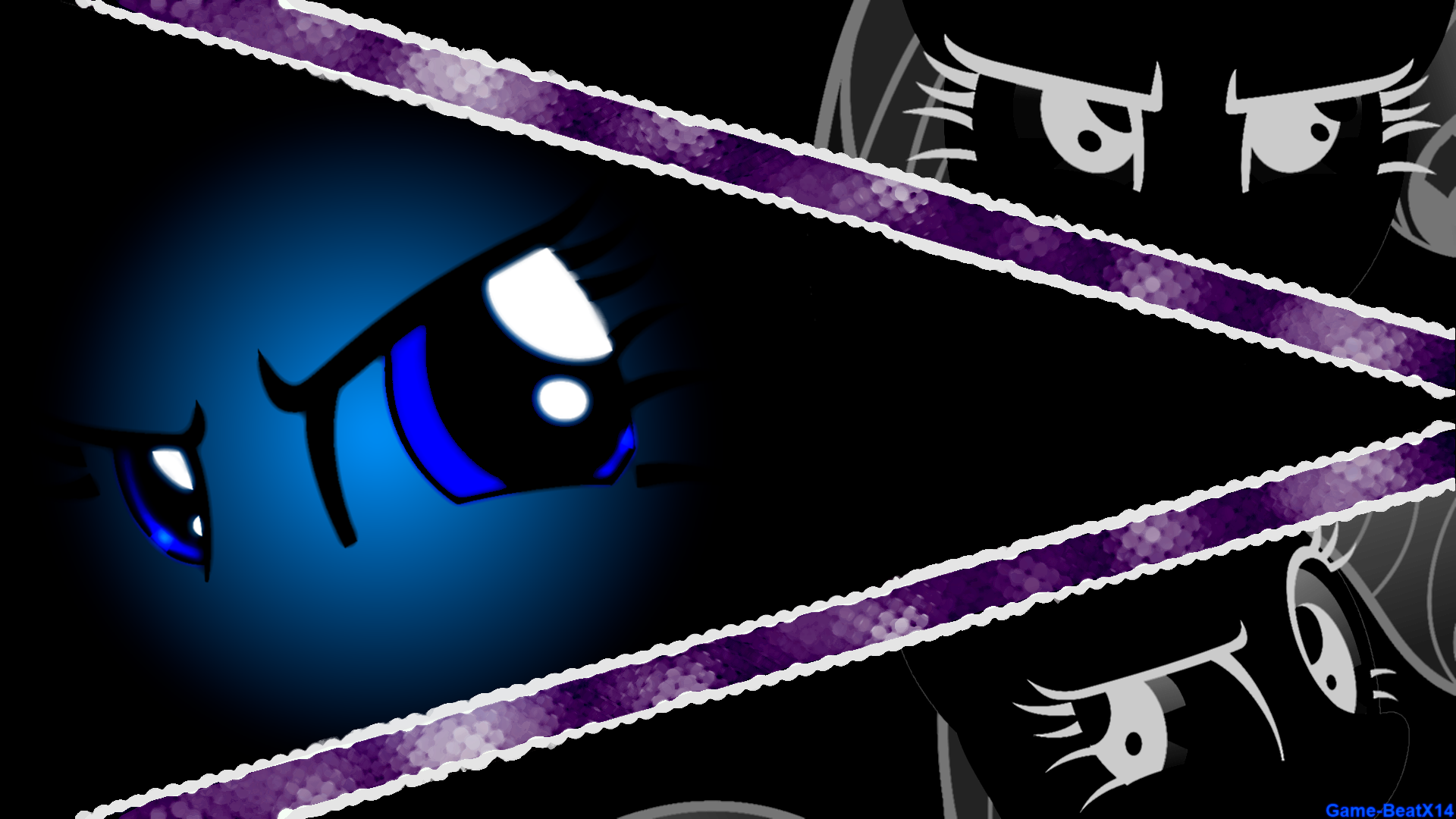 Rarity Eyes Wallpaper by craftybrony, Dharthez, Game-BeatX14 and Hawk9mm