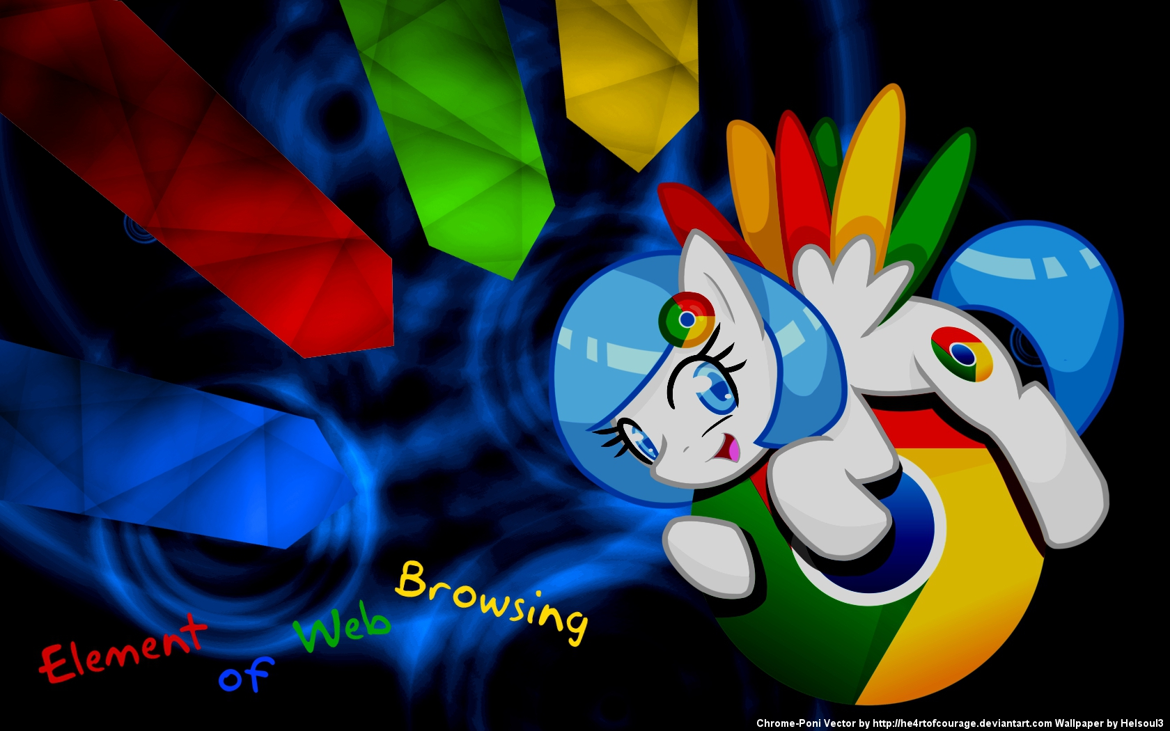 Chrome Pony Wallpaper by he4rtofcourage and Helsoul3