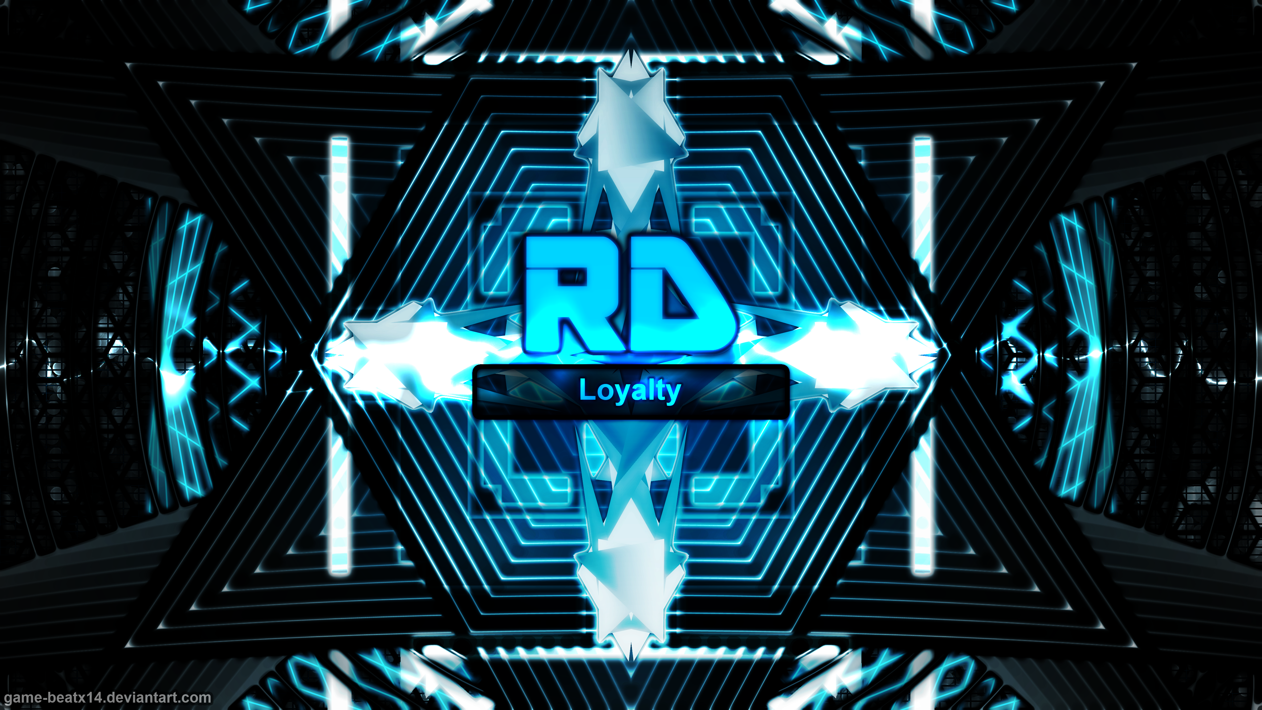Rainbow Dash Initials Wallpaper by Game-BeatX14