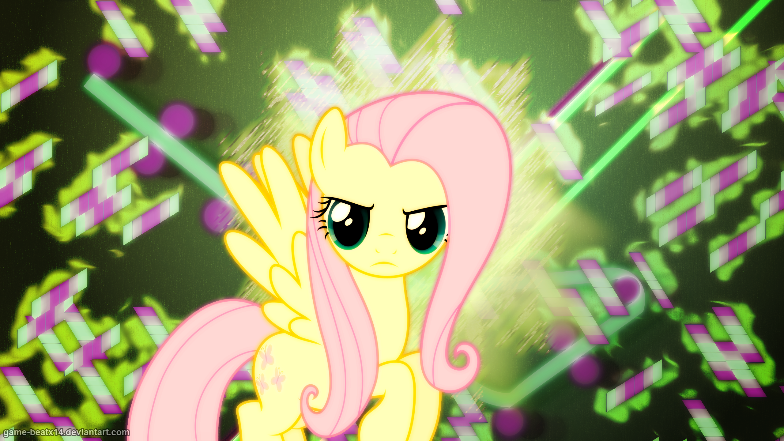 Fluttershy Wallpaper 2 Alternate by Game-BeatX14 and Hawk9mm