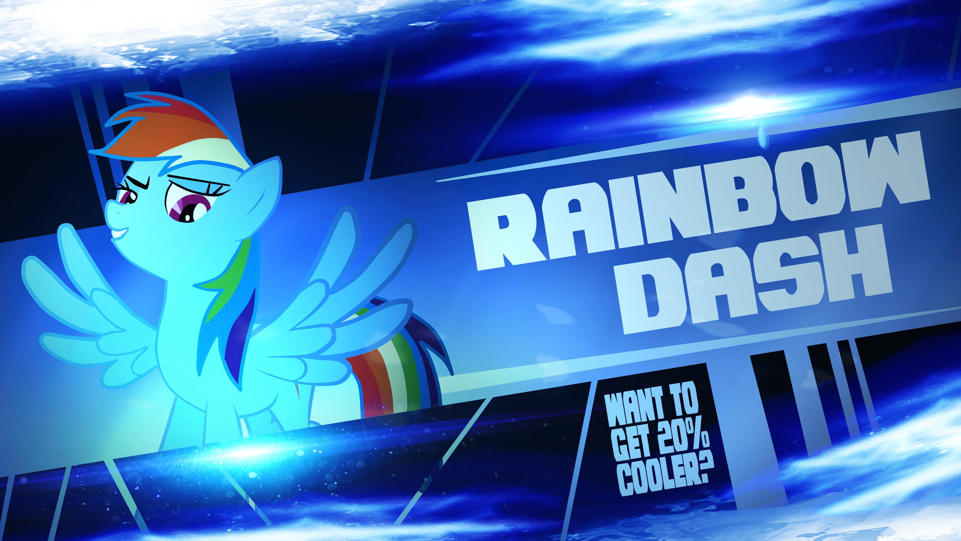 Rainbow Dash - 20% cooler by ElQwerty