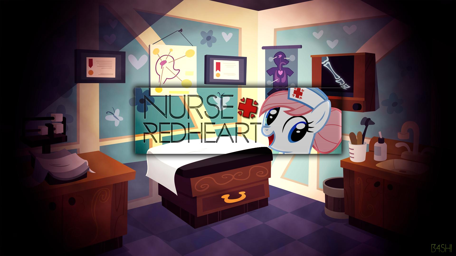 Nurse Redheart - Wallpaper by BonesWolbach, DrFatalChunk, Rainbowb4sh and The-Smiling-Pony