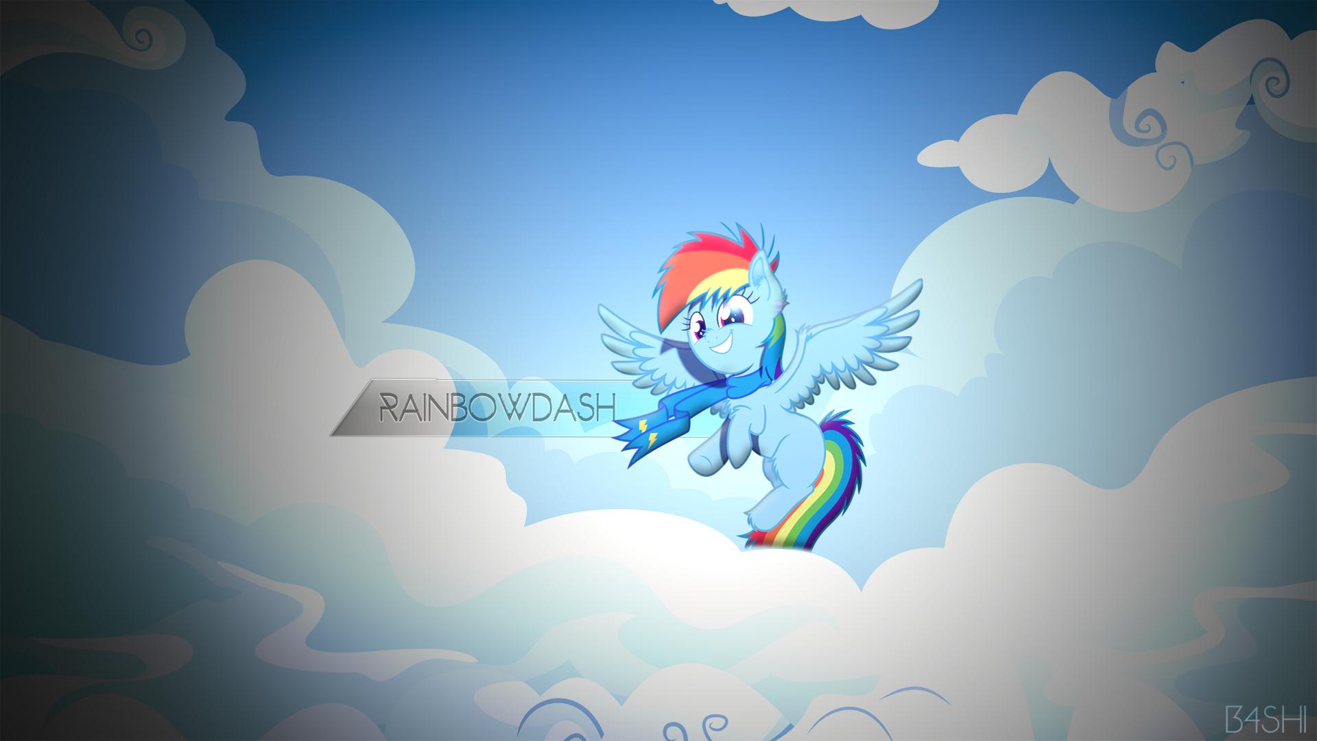 Rainbowdash - Wallpaper [1920x1080] by GoblinEngineer, MacTavish1996 and Rainbowb4sh