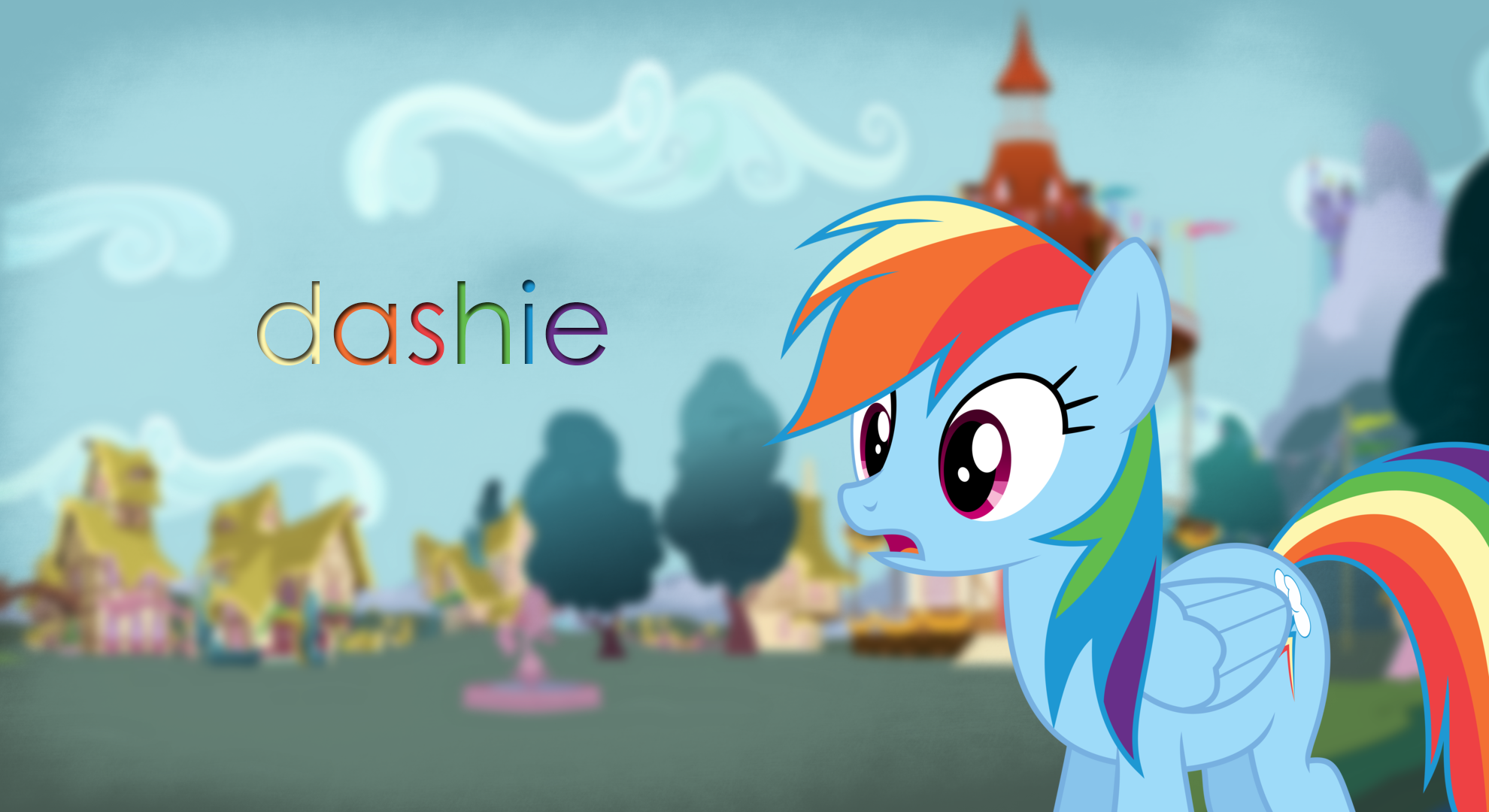 Dashie Wallpaper by BonesWolbach, ChromaticSpade and DeadParrot22