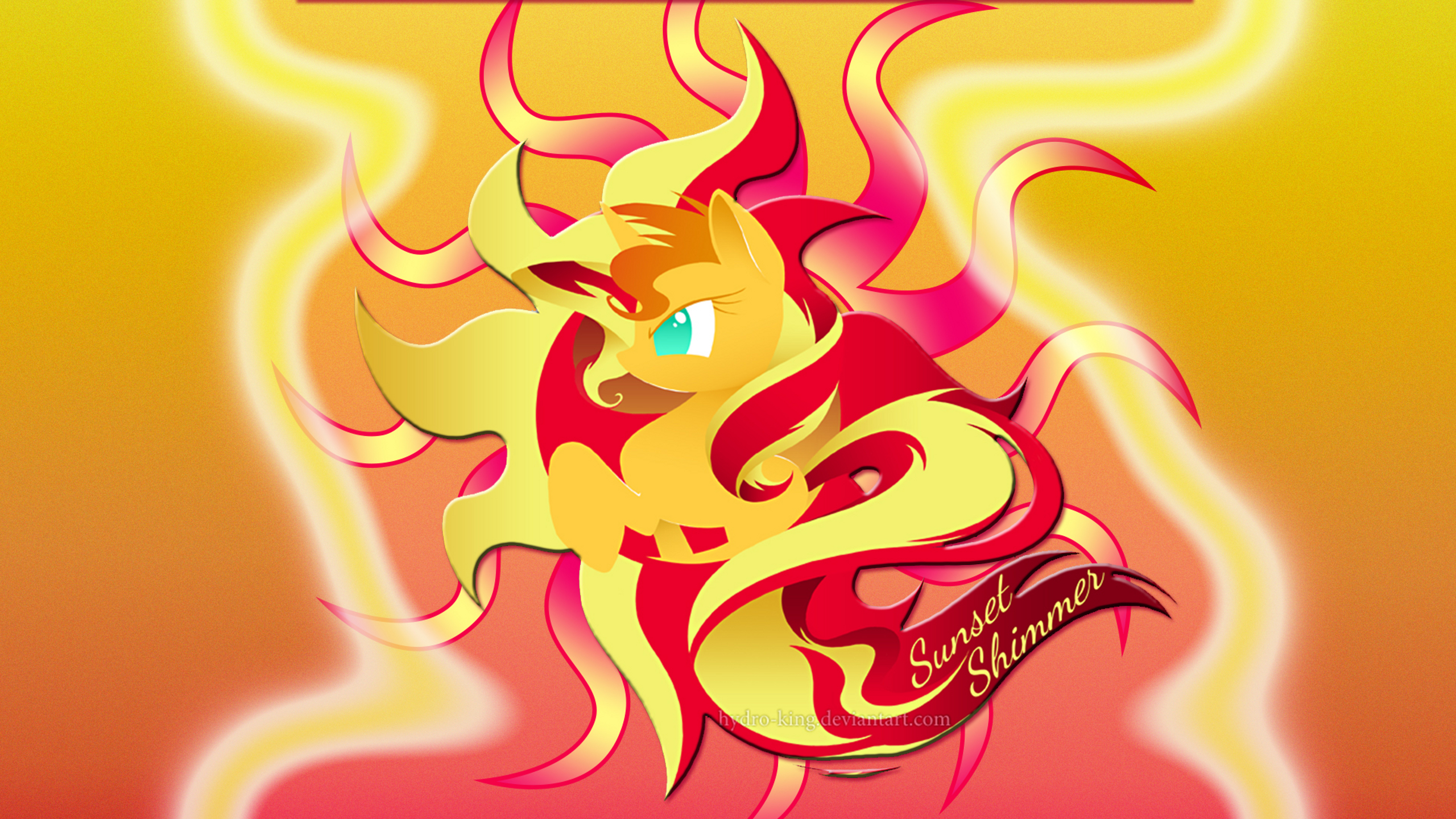 Wallpaper Logo Sunset Shimmer Imac 2560 X 1440 By Barrfind And Hydro King Vocaloid My Little Wallpaper The Wallpaper Source That Credits Artists