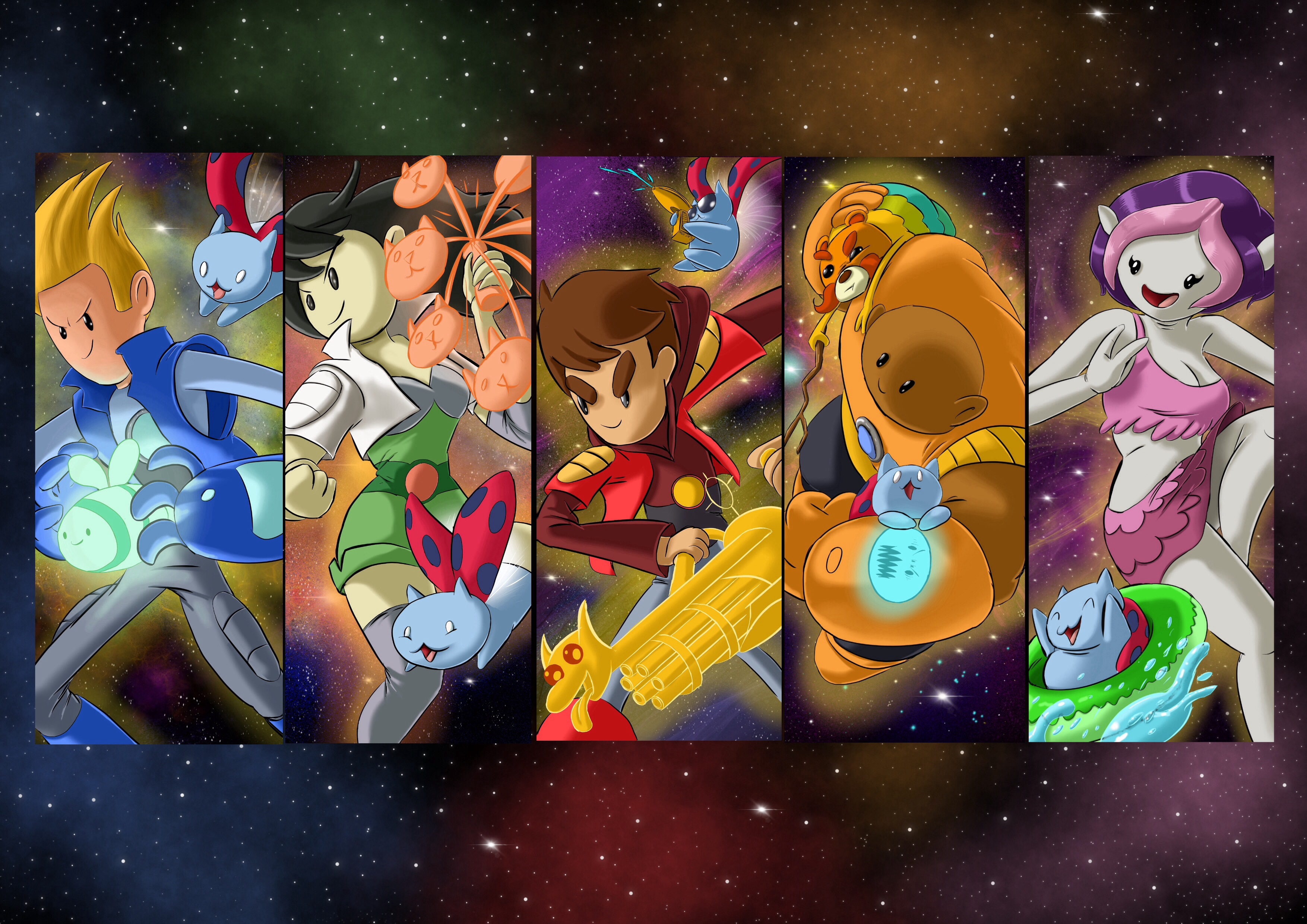 The Bravest Warriors All Together Now By Semajz Cartoon Hangover My Little Wallpaper The Wallpaper Source That Credits Artists