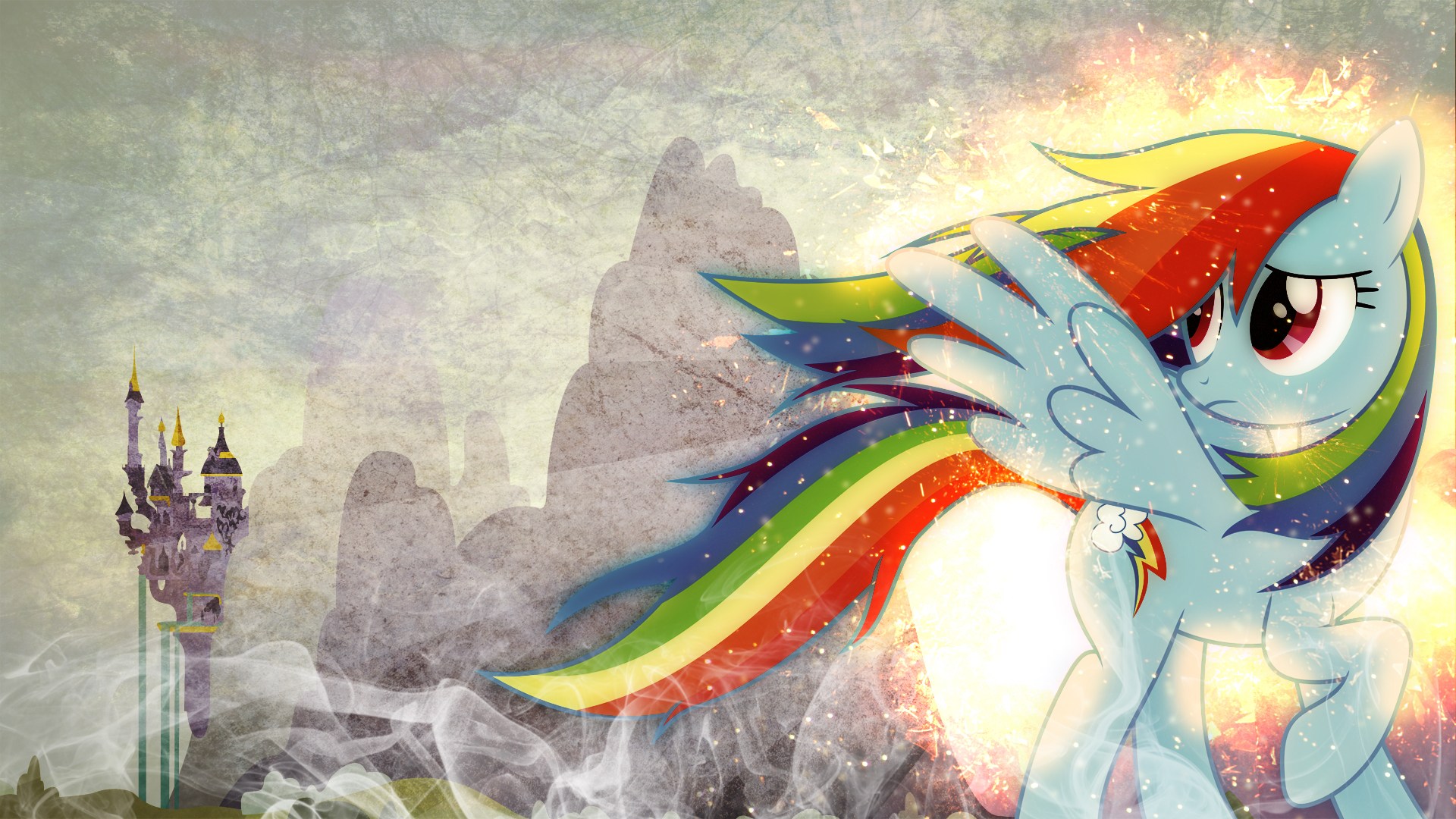 Rainbow Dash's Guilt ~ Wallpaper by Hellswolfeh, Karl97 and tdreyer1