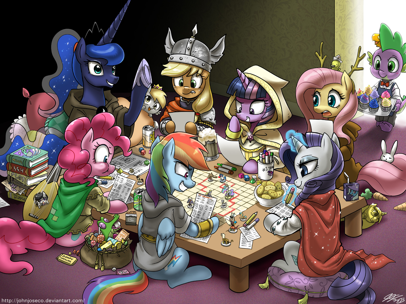 Dungeons and Ponies Plus One Dragon by johnjoseco
