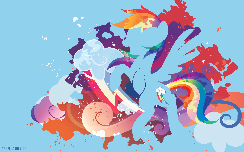 Rainbow Dash Silhouette Wall by SambaNeko