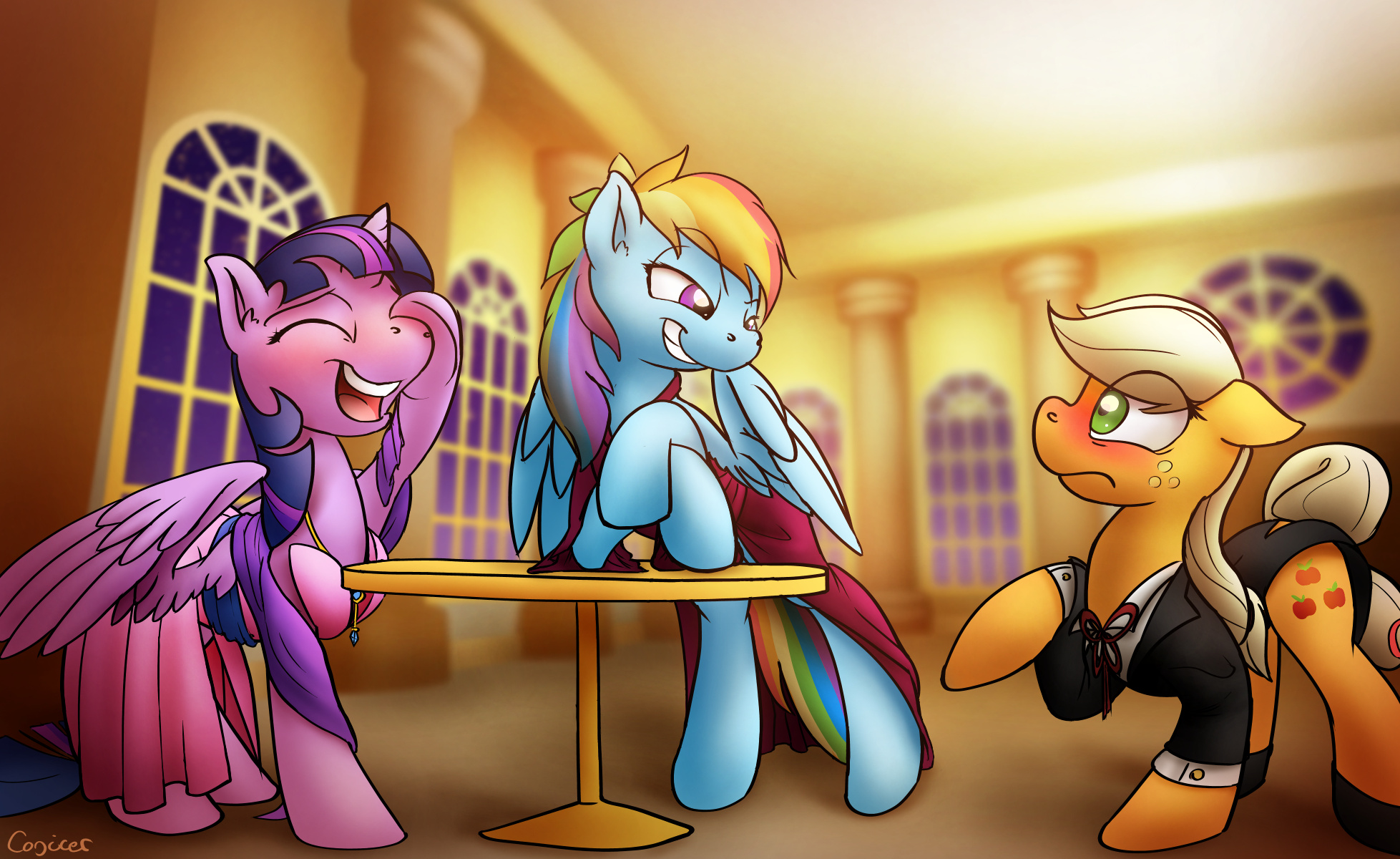 Just A Trio Of Ponies by  by Conicer