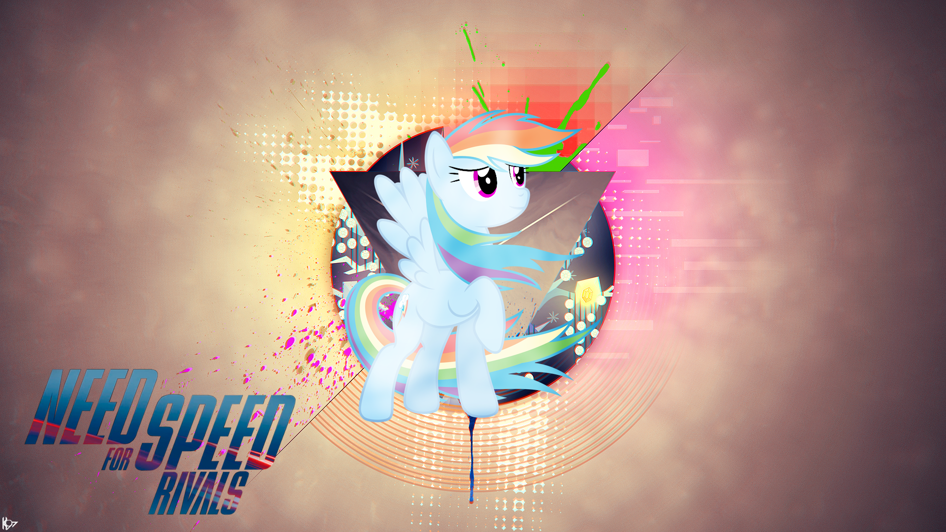 Need For Speed Rivals Rainbow Dash by JackShepardN7, Karl97, Vaux111 and xPesifeindx