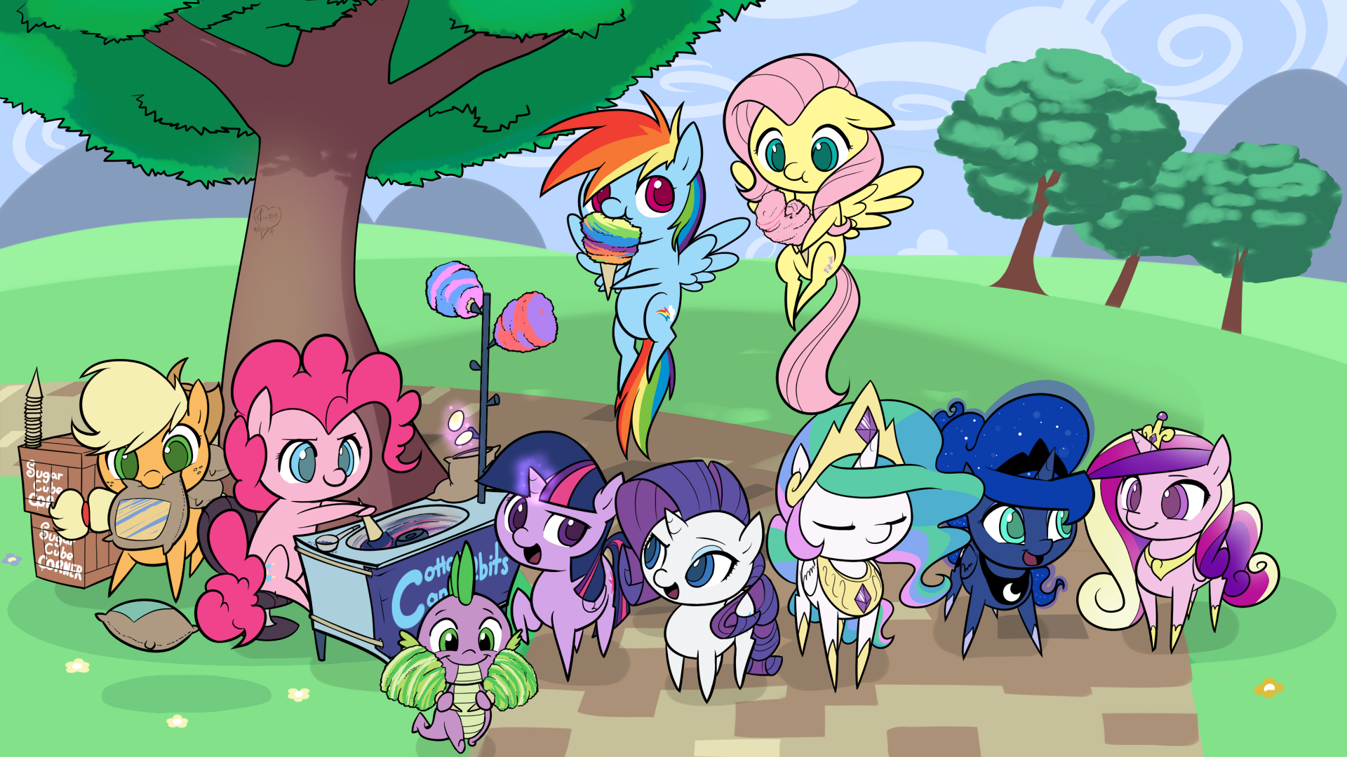 Itteh Bitteh Cotton Candy Selling Committeh by Dreatos