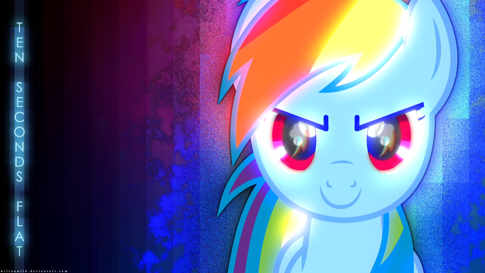 Rainbow Dash HD Wallpaper | Ten Seconds Flat by BlackGryph0n and wiltonwild