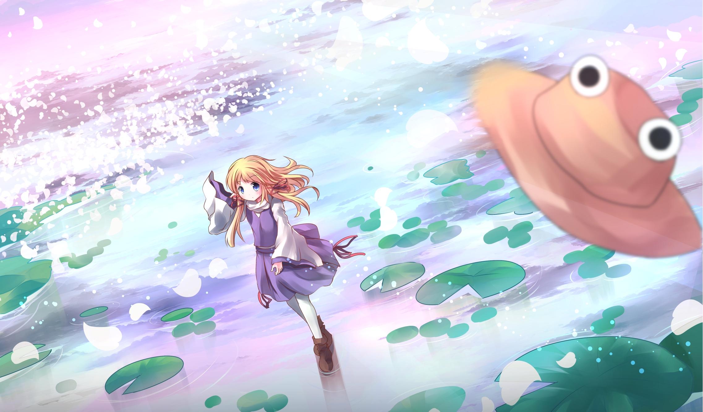 虹の湖の諏訪子さん By Risutaru りすたる My Little Wallpaper