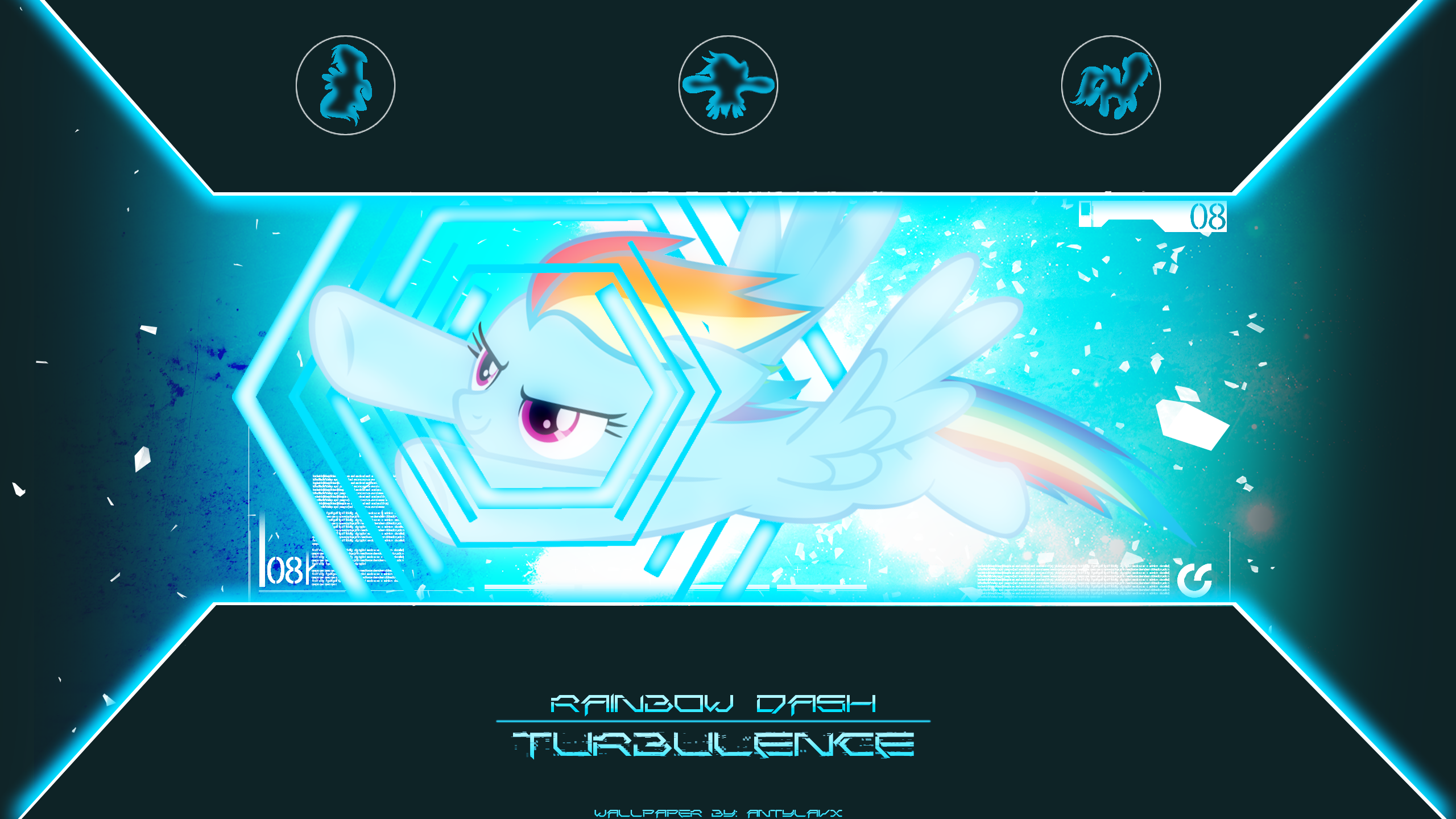 Turbulence - Wallpaper by AntylaVX, Bl1ghtmare, CrusierPL and luckydonald