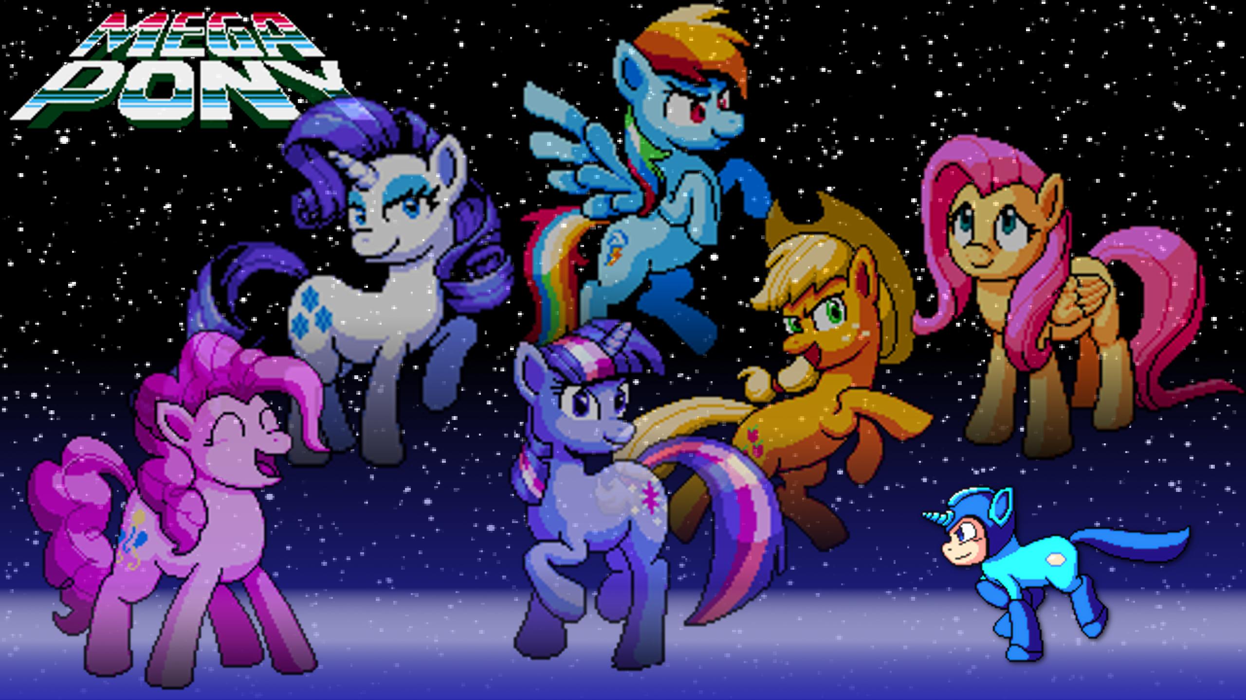 Mega Pony & Mane Six by KhaoMortadios and VeloxMane