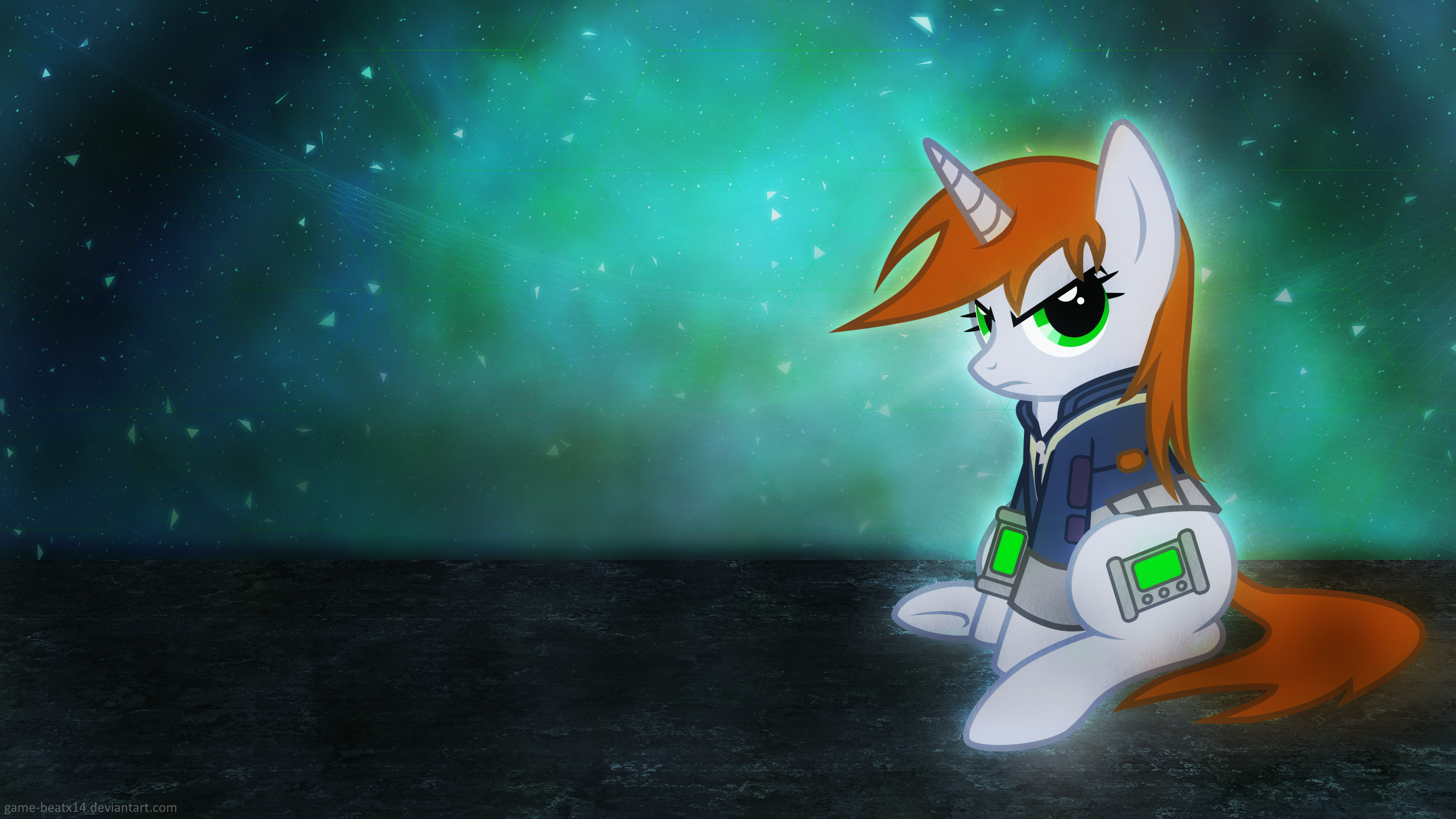 Littlepip by Game-BeatX14 and Groxy-Cyber-Soul