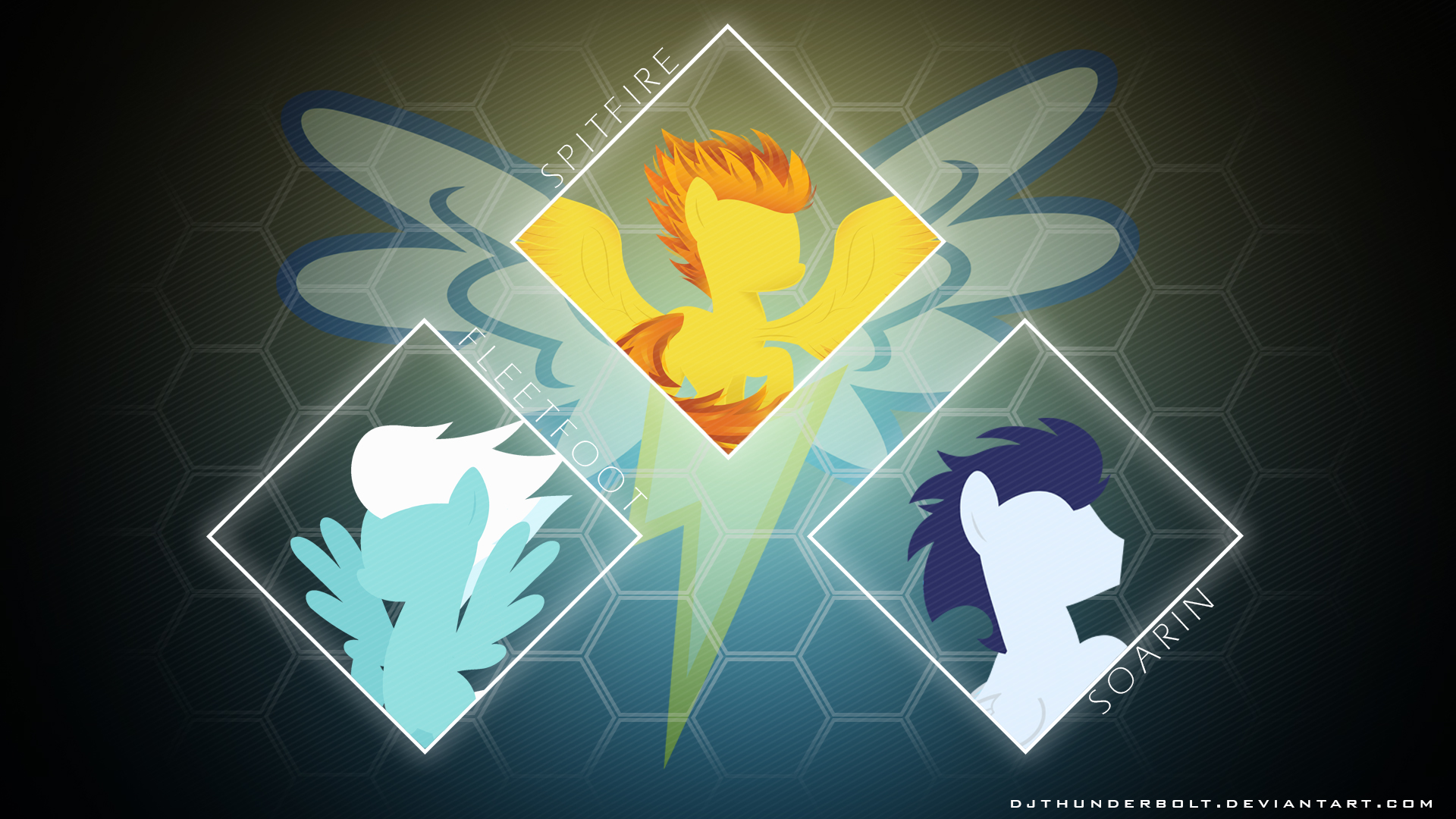 Wonderbolt Wallpaper by ChainChomp2, civgod666, D4SVader, IIThunderboltII and Philipp04