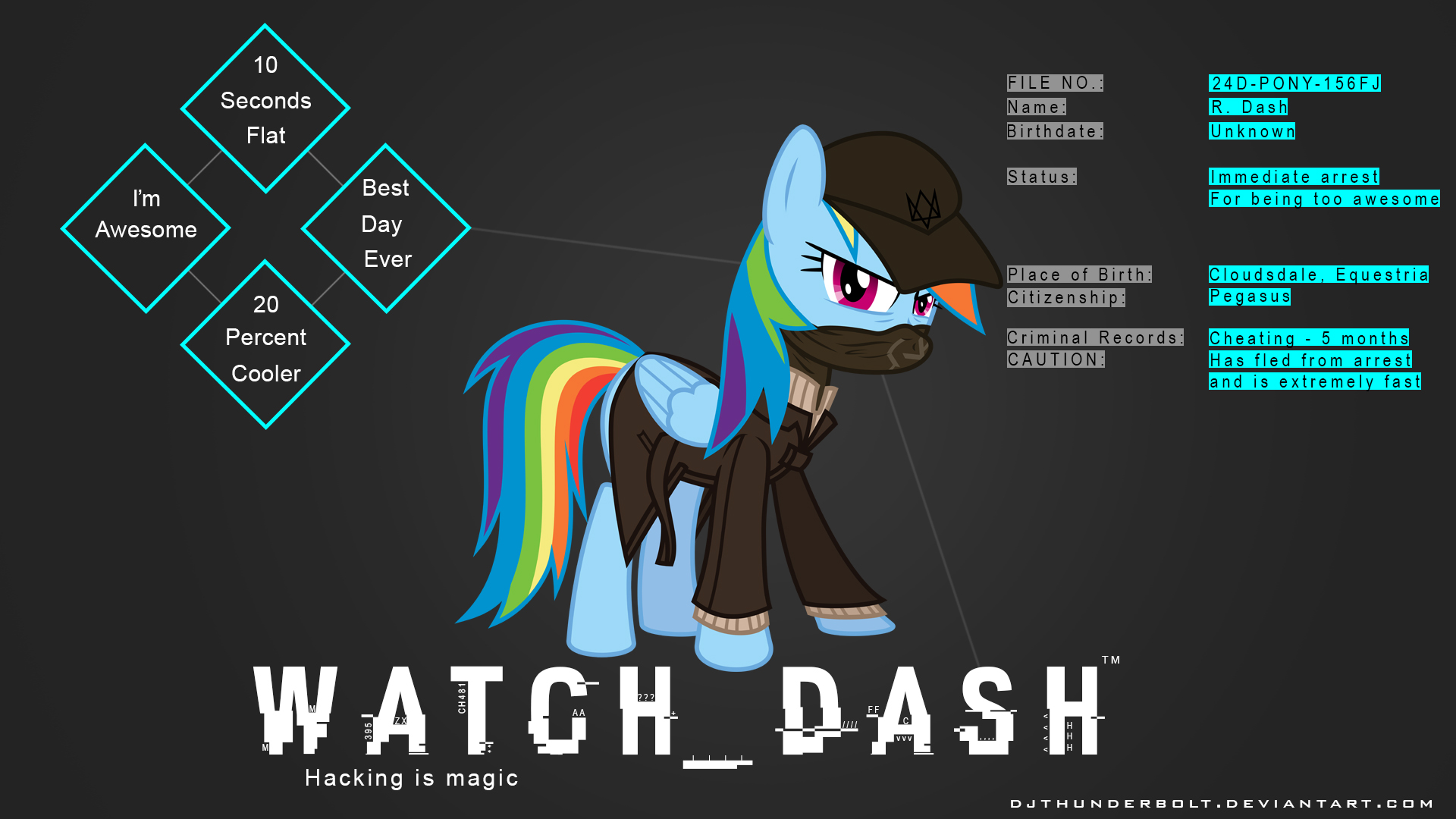 Watch Dash Wallpaper by BlueAthomBomb and IIThunderboltII