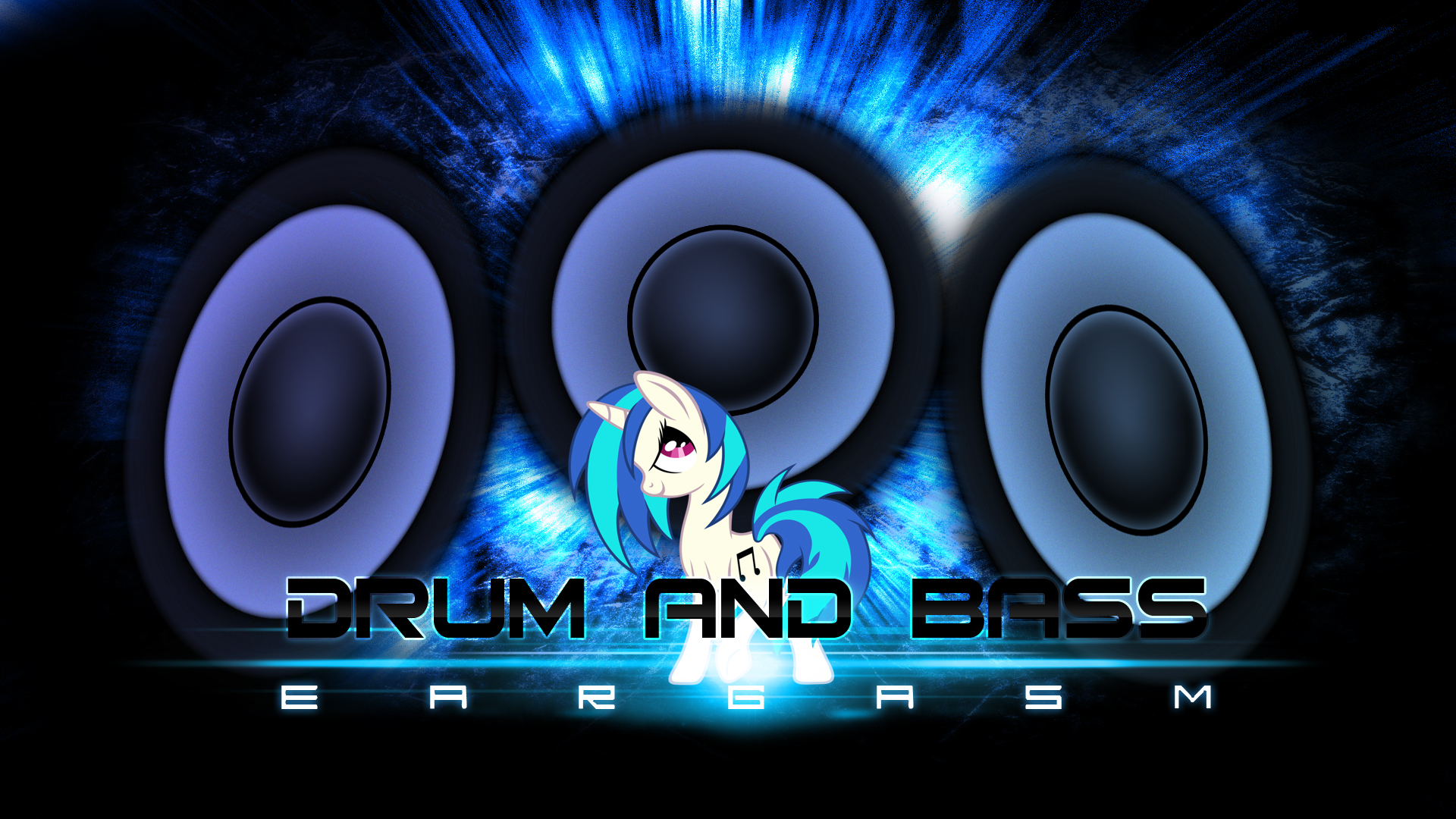 Vinyl Scratch Bass Wallpaper by IIThunderboltII and Tzolkine