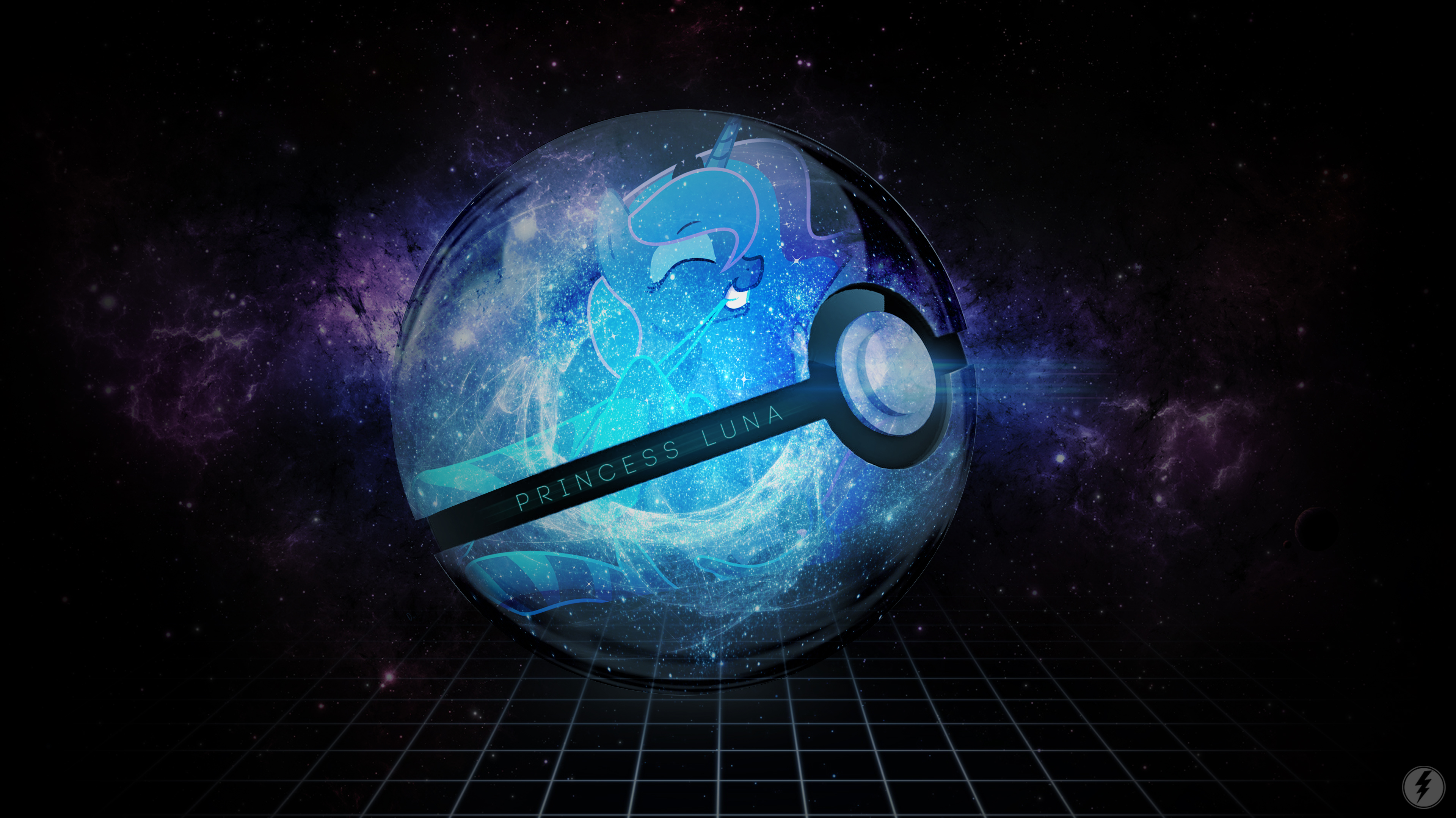 Pokeball Luna Wallpaper by DarkFlame75 and IIThunderboltII