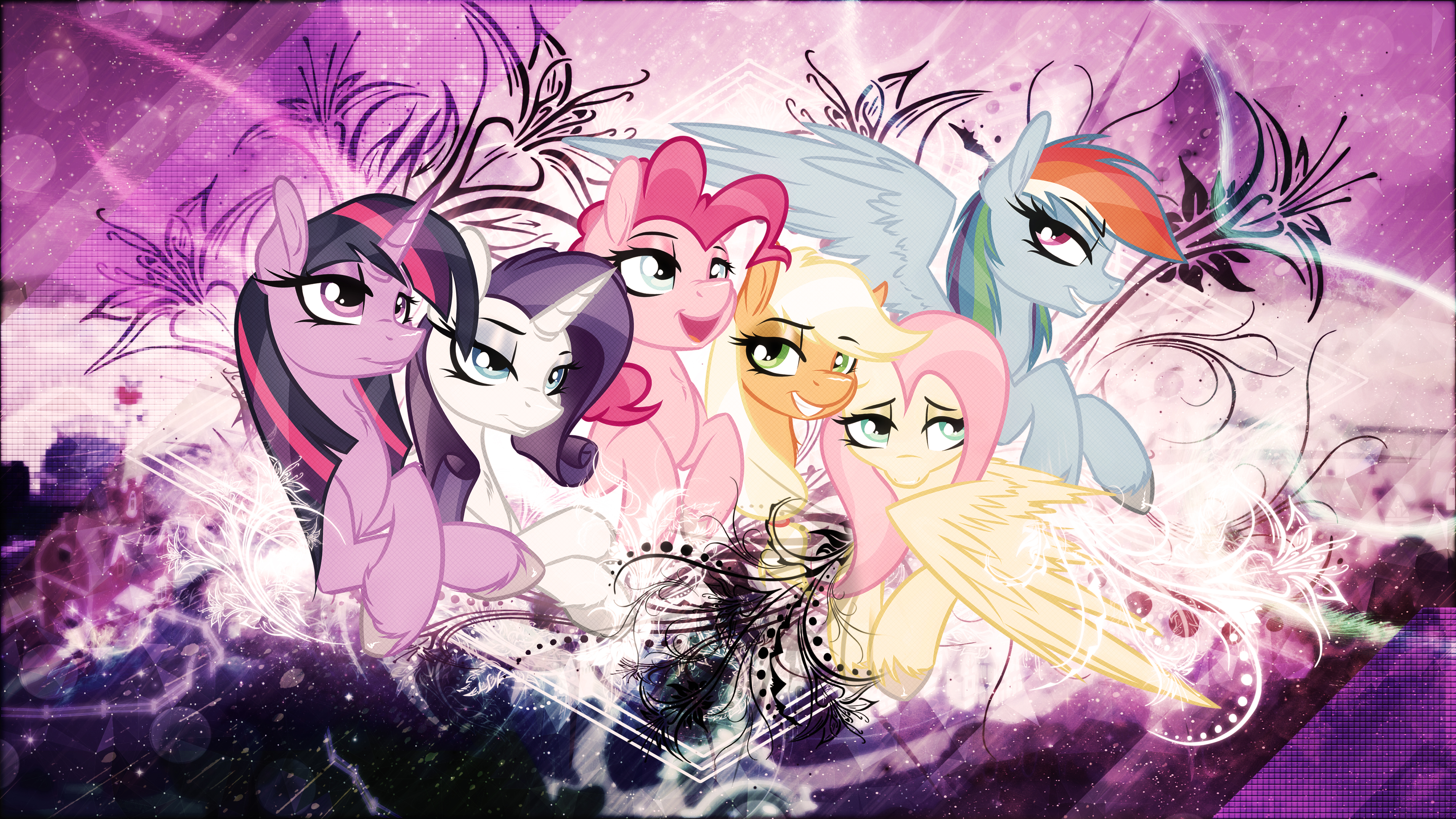 Mane6 by Foxy-Noxy, skrayp and StrachAttack