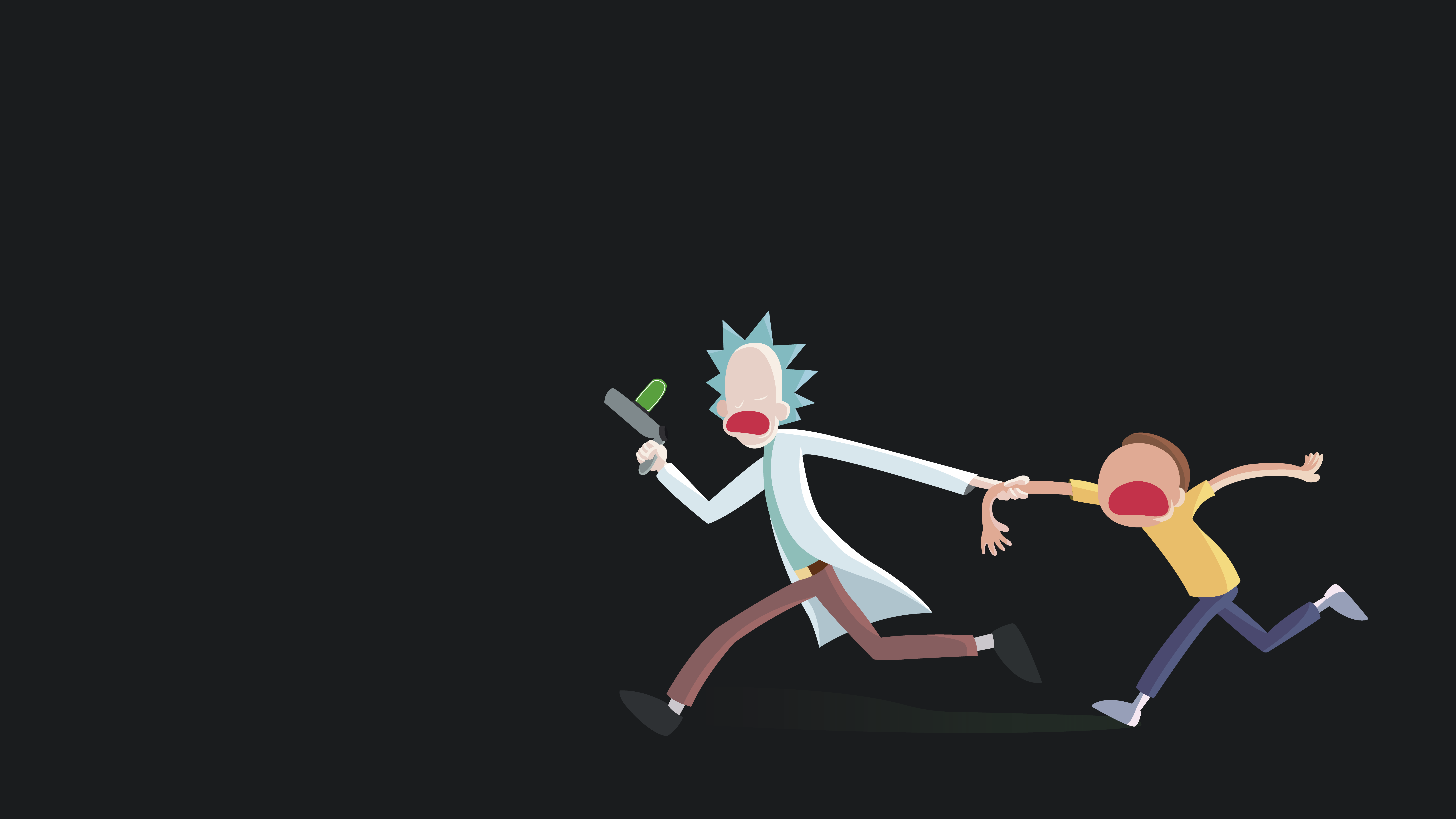 minimal rick and morty by theztret00 my little wallpaper the