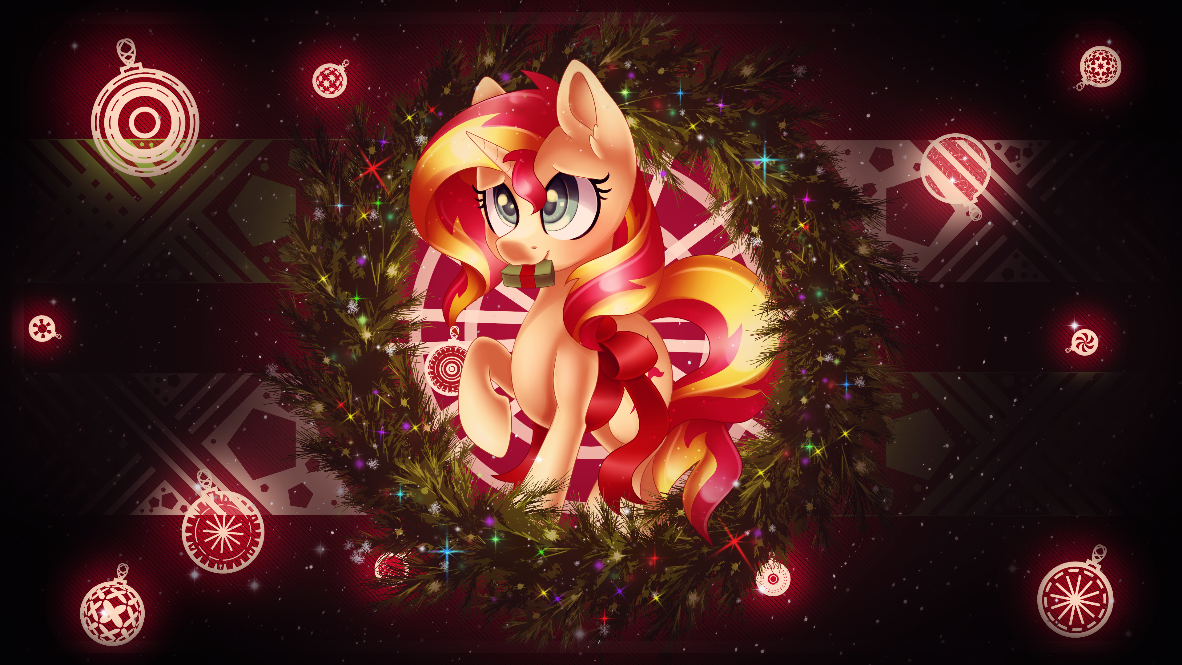 Sunset Xmas by Scarlet-Spectrum and skrayp