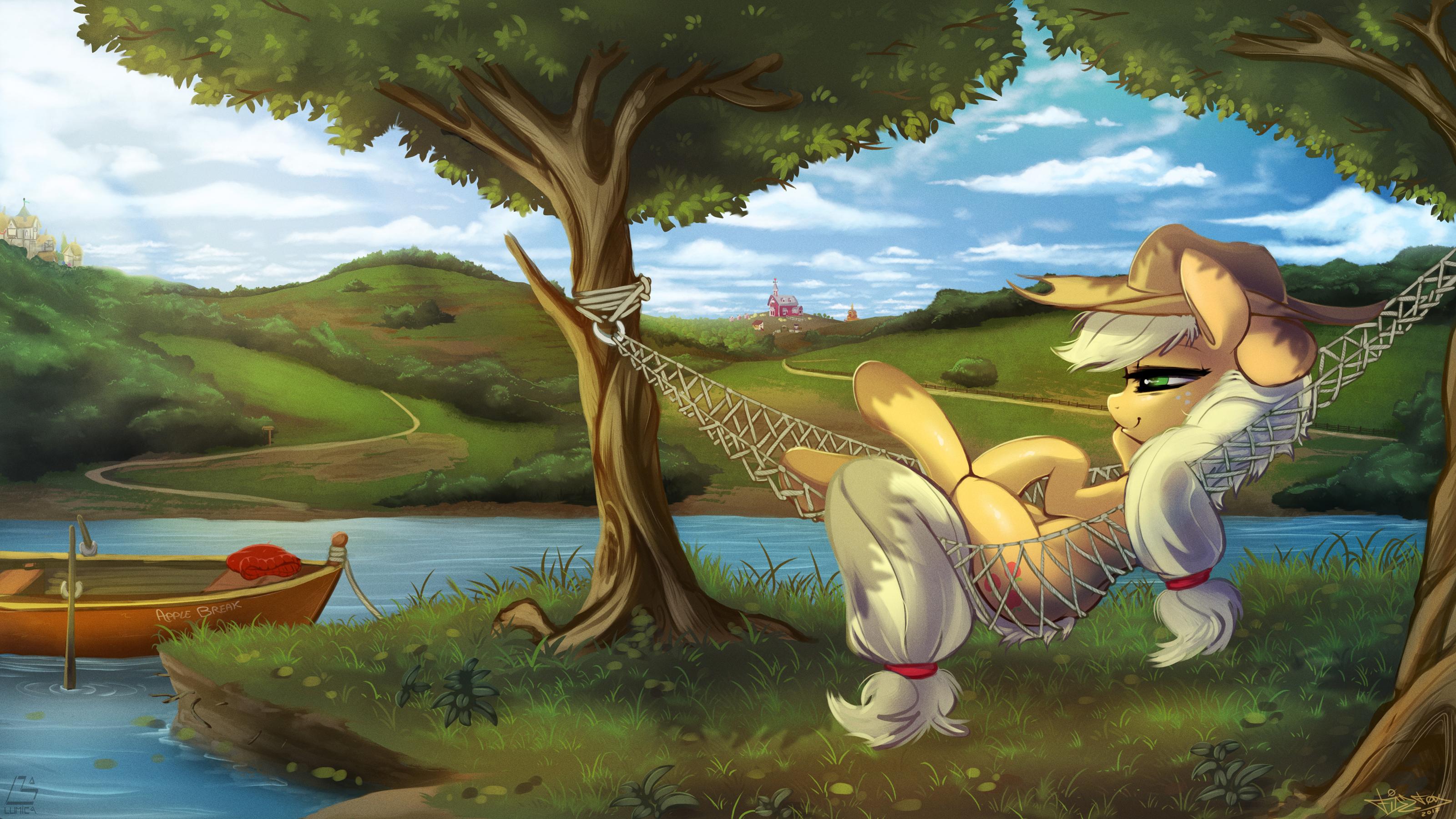 Applejack's chill spot. by FidzFox