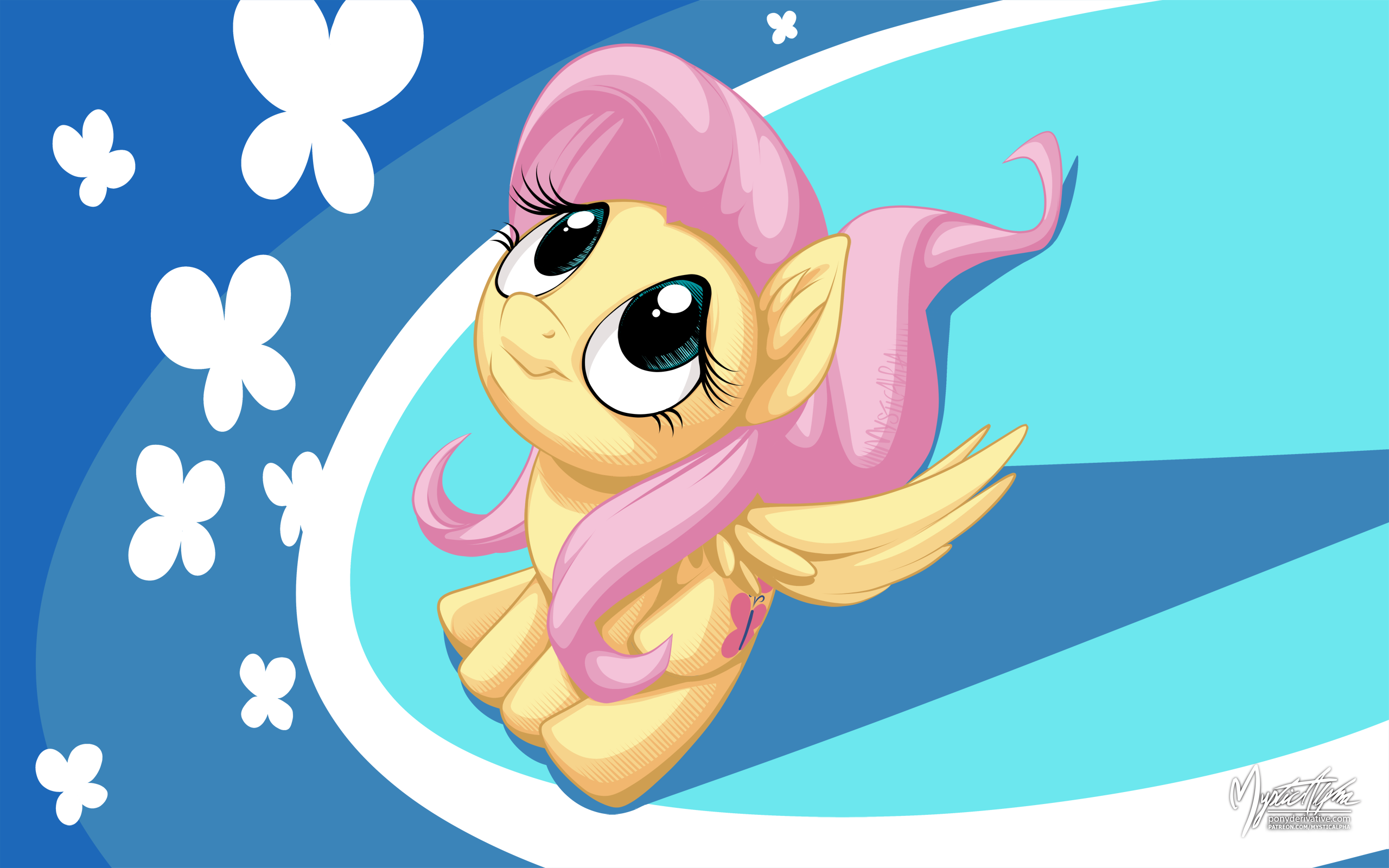 Fluttershy Up by mysticalpha