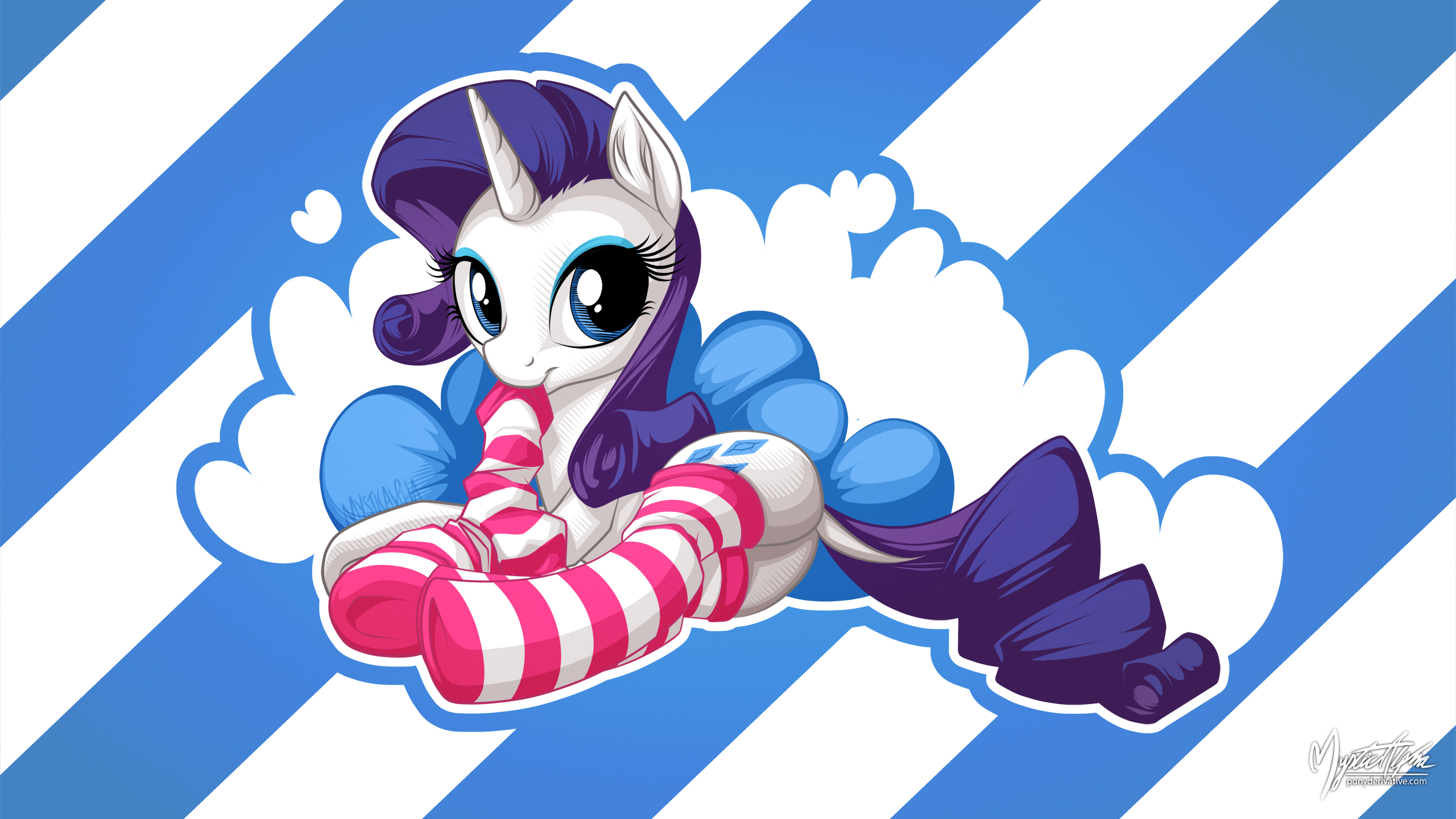 Rarity in Stocking [Saucy] 16:9 by mysticalpha